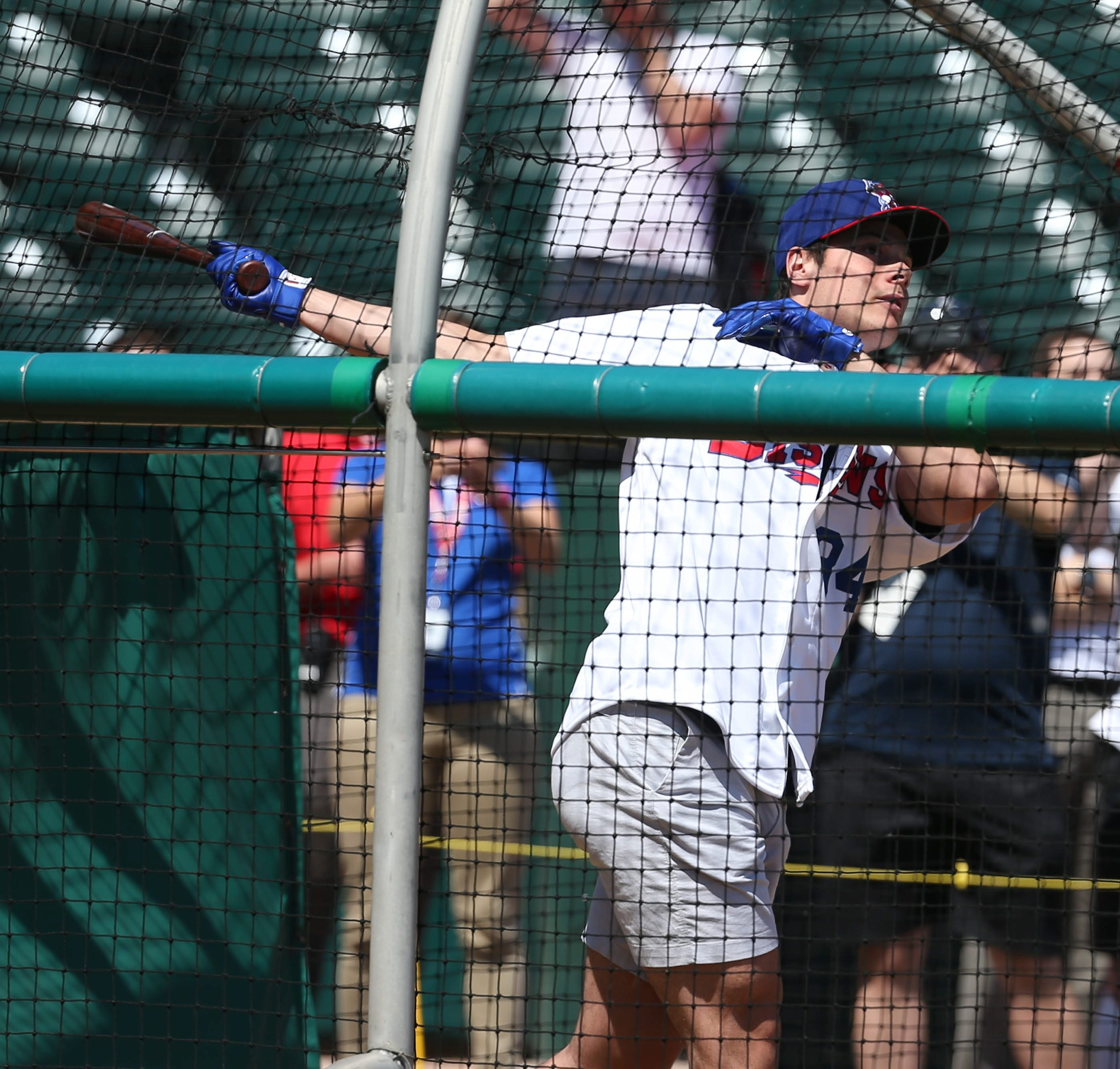 He didn't go deep but Auston Matthews, the presumptive No. 1 pick in Friday's NHL Draft, got in some good cuts when the top draft prospects took batting practice  at Coca-Cola Field on Wednesday afternoon.