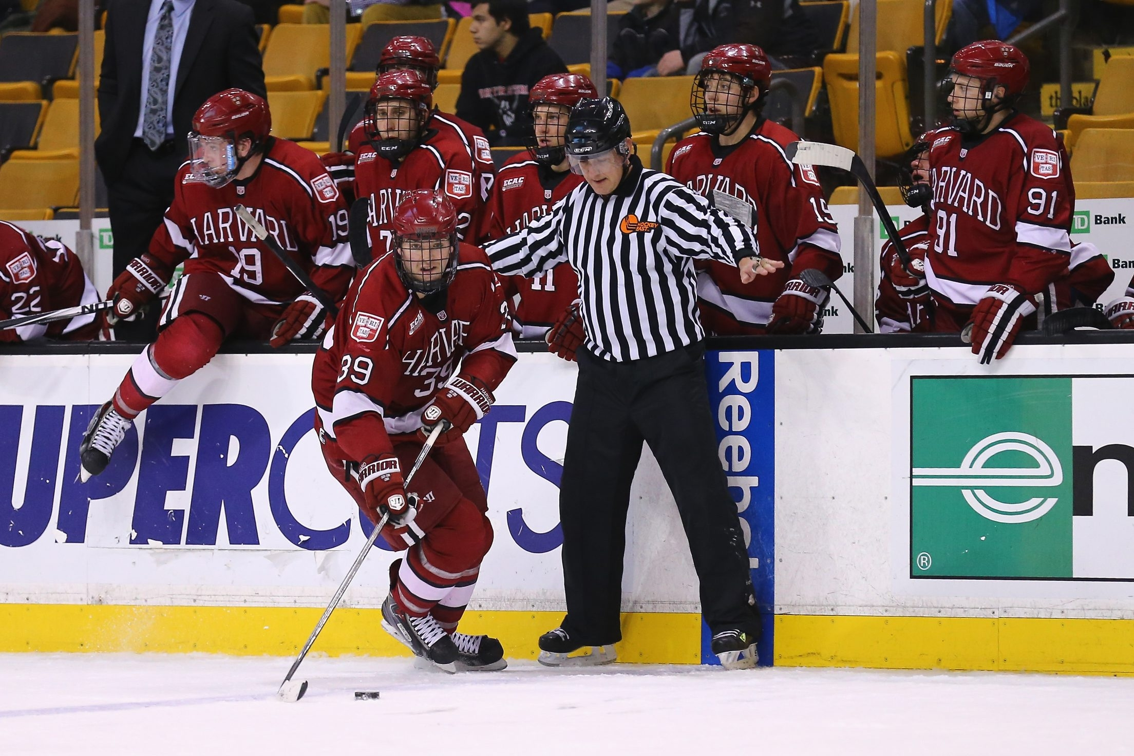 Jimmy Vesey was the Hobey Baker award winner at Harvard.