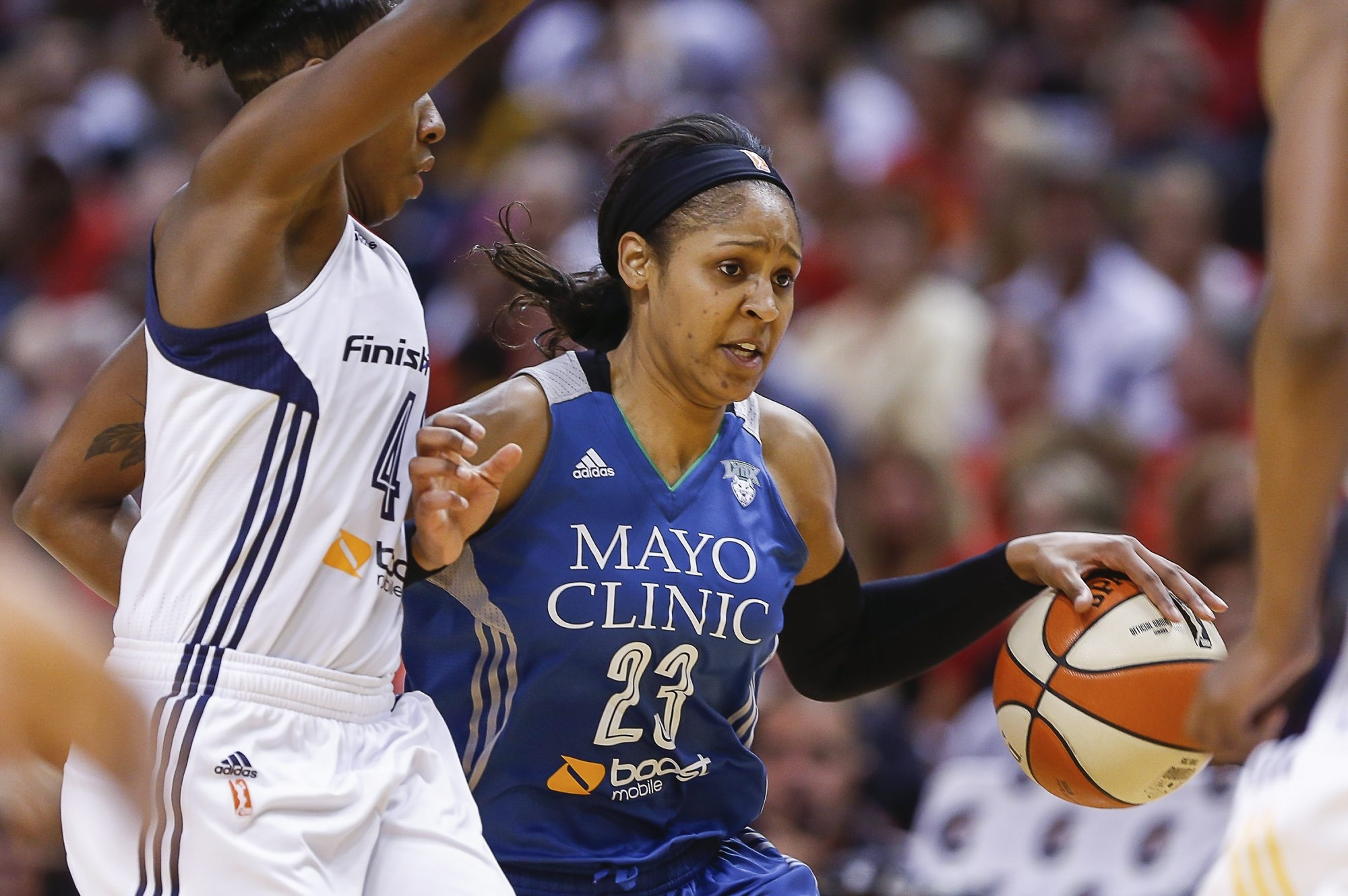 Maya Moore watched other stars before her in the WNBA.