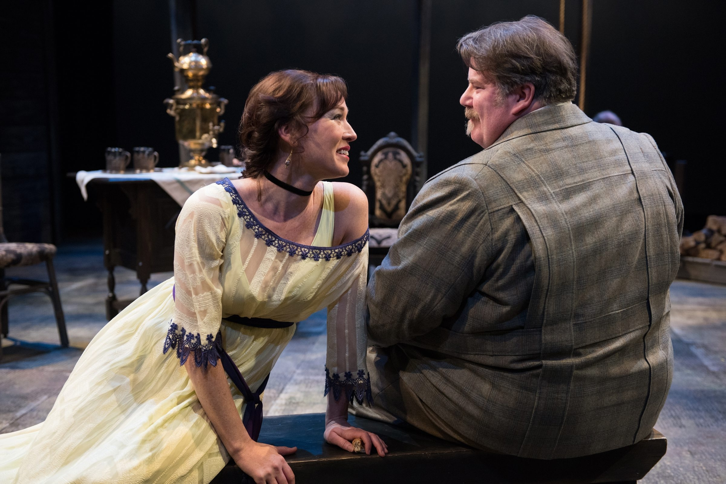 """Moya O'Connell and Neil Barclay star in the Shaw Festival's production of """"Uncle Vanya."""""""