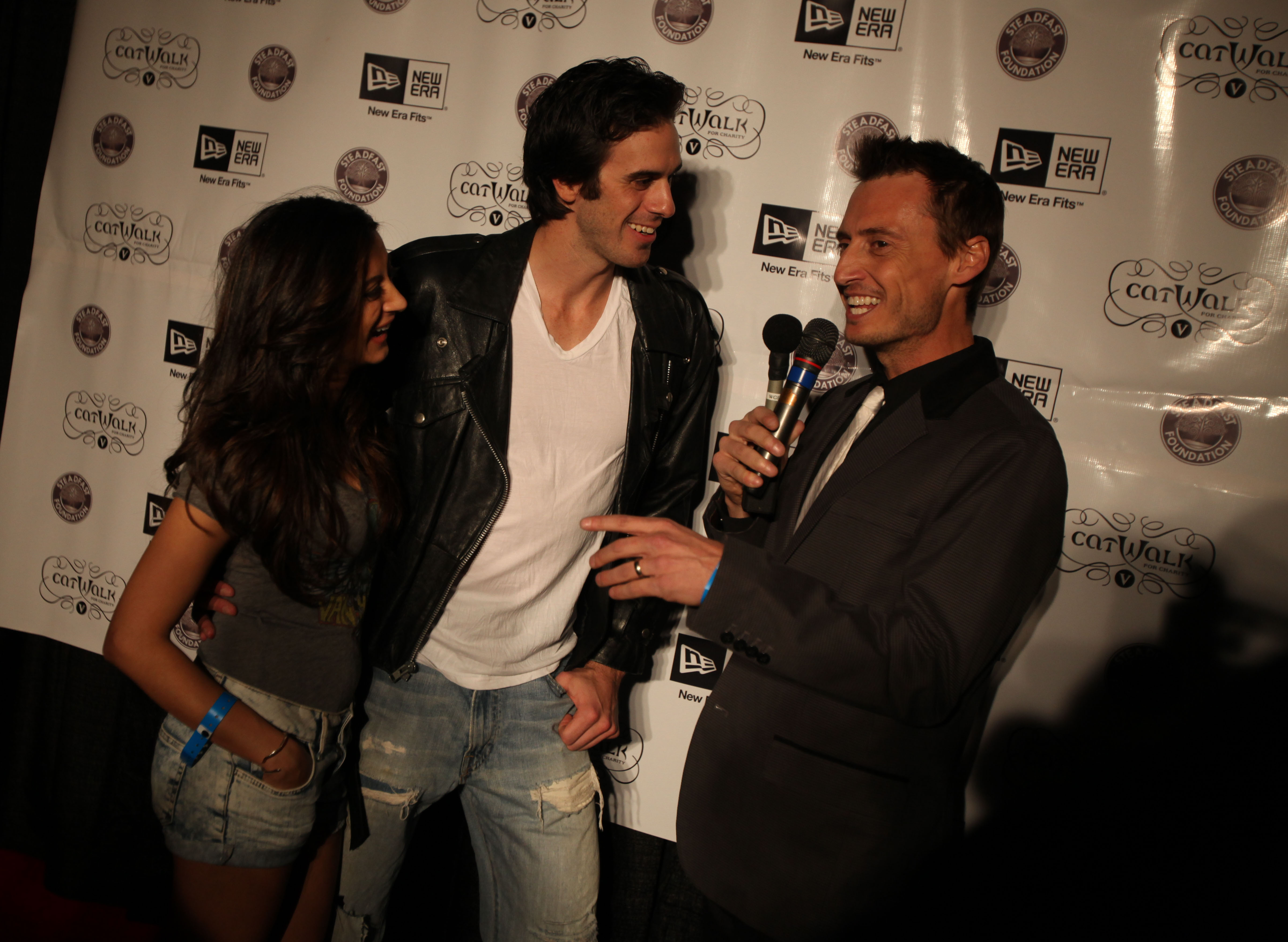 "Ken Baker interviews   Sabres goaltender Ryan Miller, and Miller's girlfriend,r Noureen DeWulf during ""A Reason to Rock: Catwalk for Charity V"" to benefit the Steadfast Foundation, which provides assistance to young cancer patients, at the Town Ballroom in Buffalo in 2010.  (News file photo)"