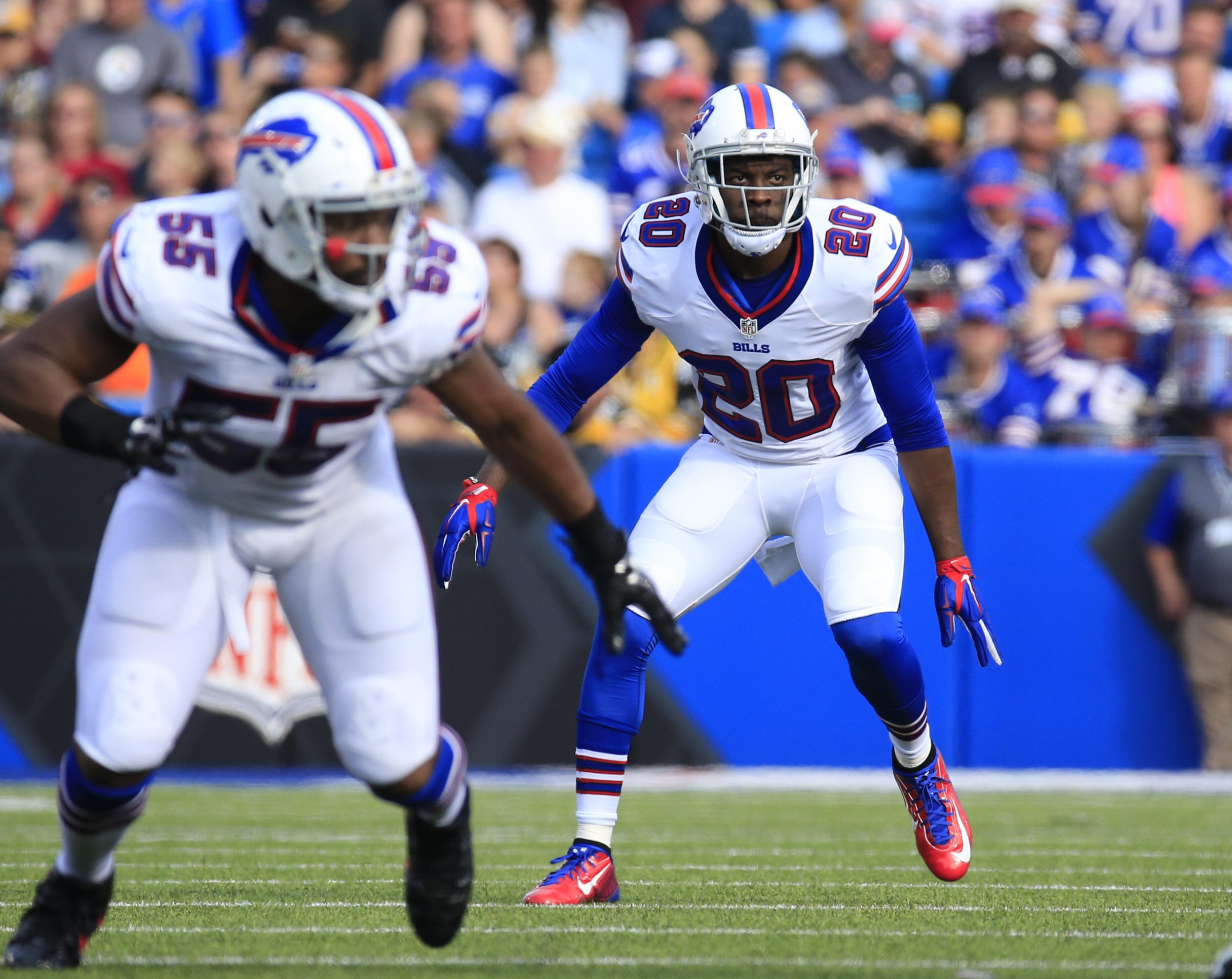 Buffalo Bills Corey Graham  during first half action against the Pittsburgh Steelers at Ralph WIlson Stadium on Saturday, Aug. 29, 2015.  (Harry Scull Jr./Buffalo News)