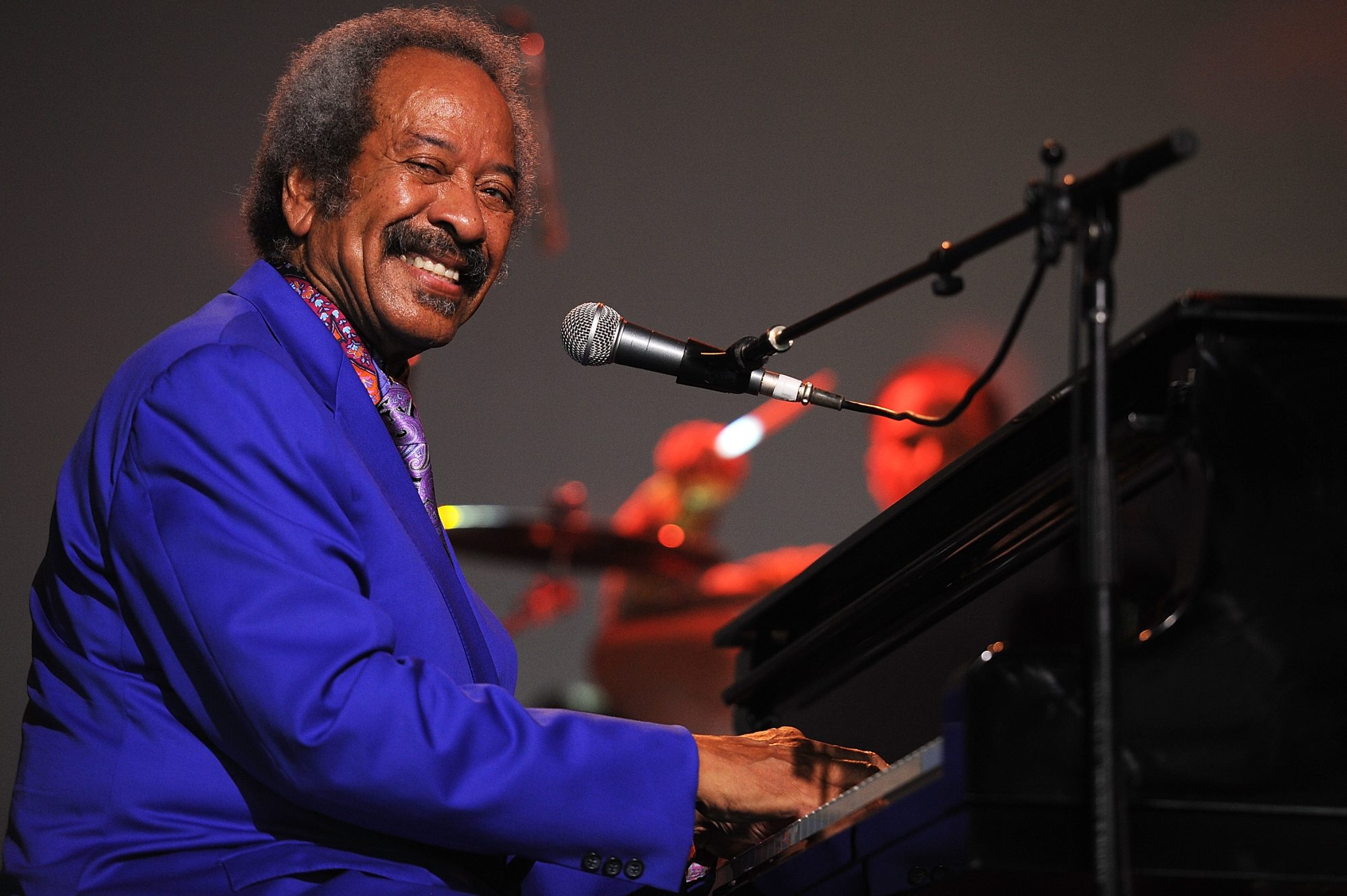 Allen Toussaint performing on stage in 2013 in Byron Bay, Australia.  (Photo by Matt Roberts/Getty Images)