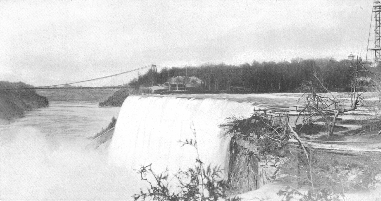 American falls in 1895 from balcony