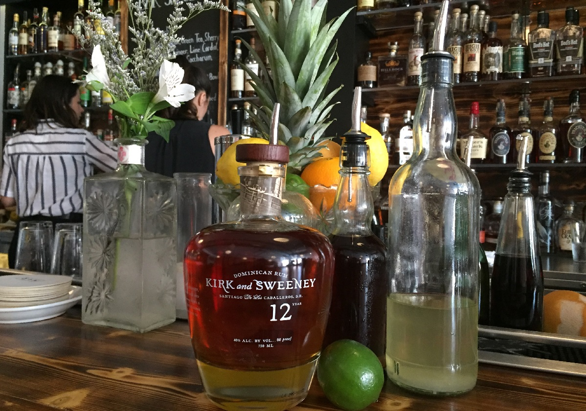 Ingredients for Marble + Rye's punch, which involves milk-washing the liquor. (Christa Glennie Seychew/Special to The News)
