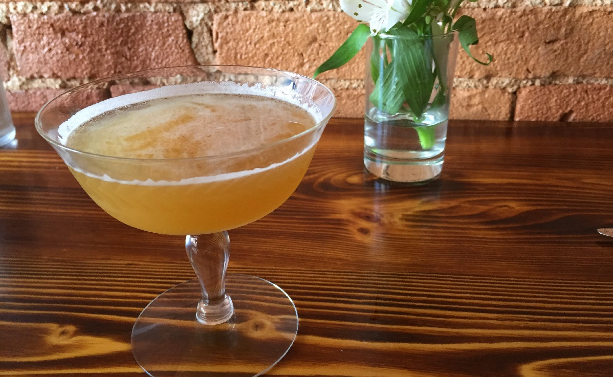 The Belafonte from Marble + Rye, with milk-washed rum, smoked pineapple, lime and more. (Christa Glennie Seychew/Special to The News)