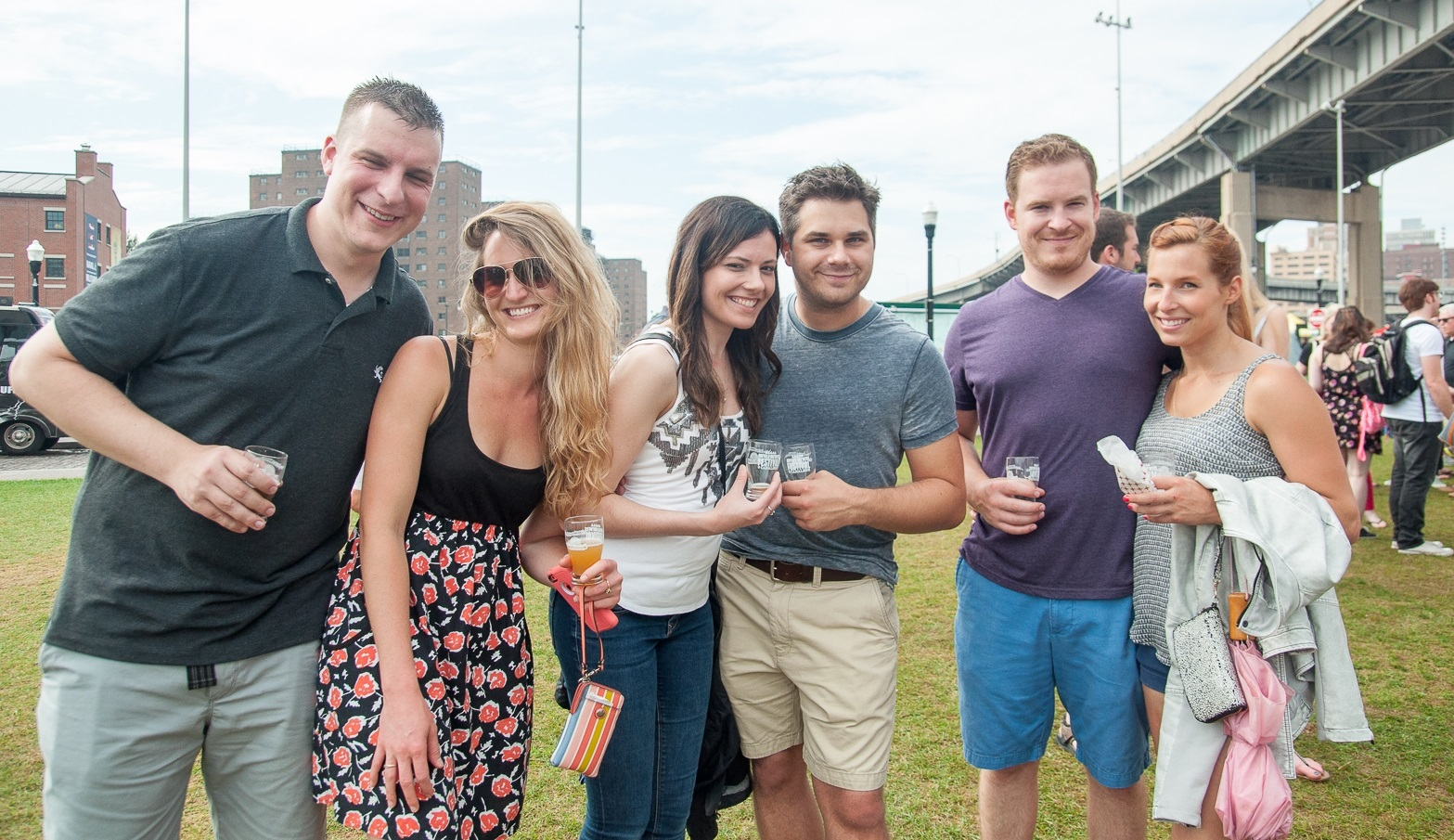 Smiling faces at the 2015 Buffalo Brewers Festival. (Matt Weinberg/Special to The News)