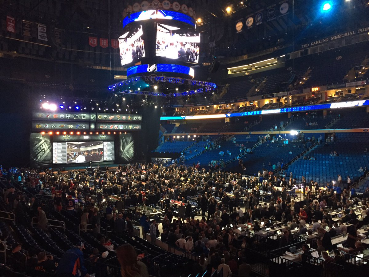 First Niagara Center just over an hour before the first round was to begin. (James P. McCoy/Buffalo News)