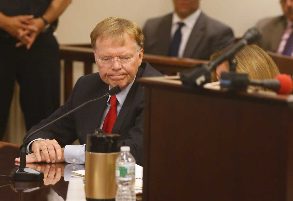 Former Justice John Michalek pleads guilty to soliciting, accepting bribes from Steve Pigeon. (Mark Mulville/Buffalo News)
