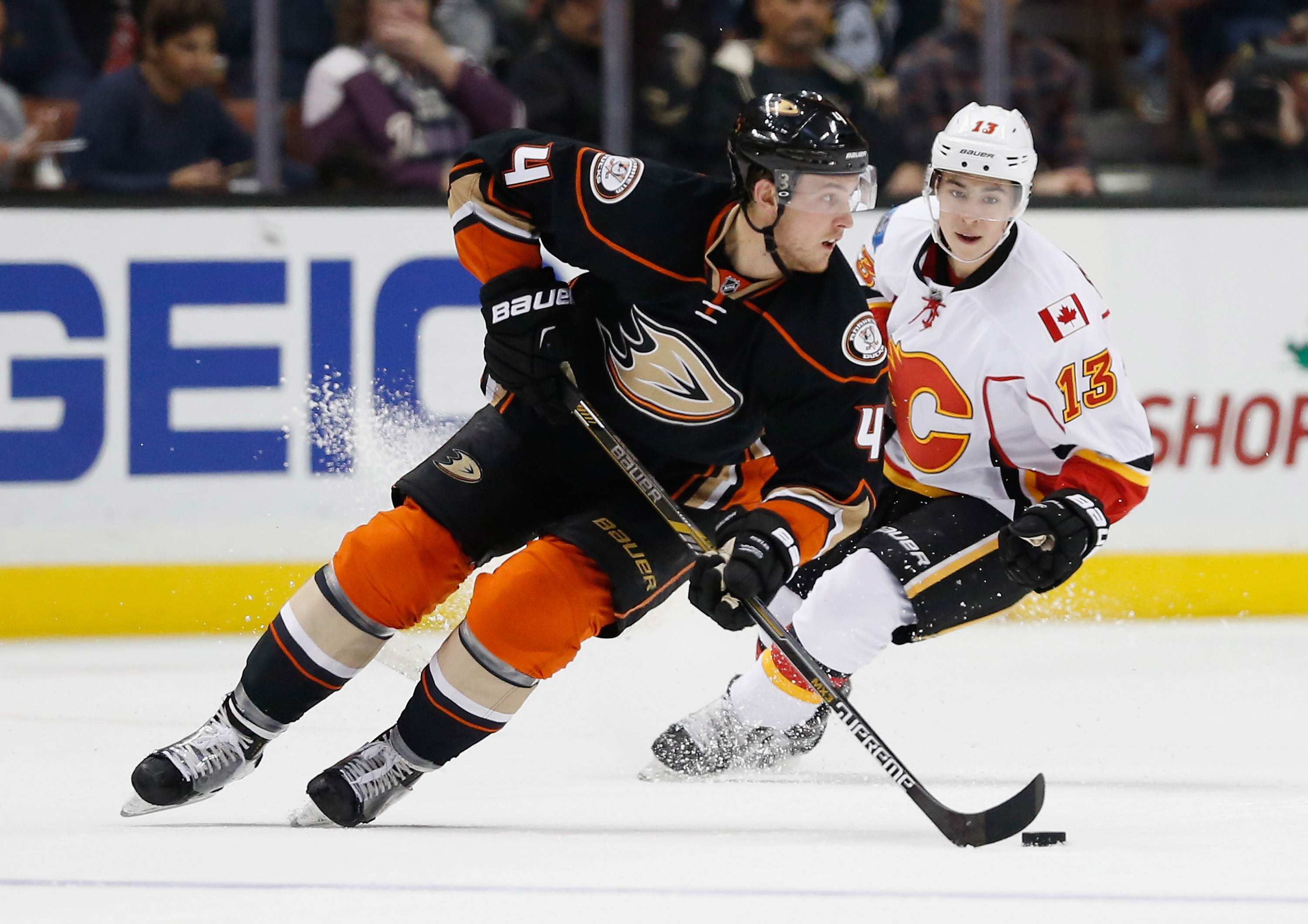 Cam Fowler fits Tim Murray's wish for a young, left-handed defenseman.  (Photo by Sean M. Haffey/Getty Images)