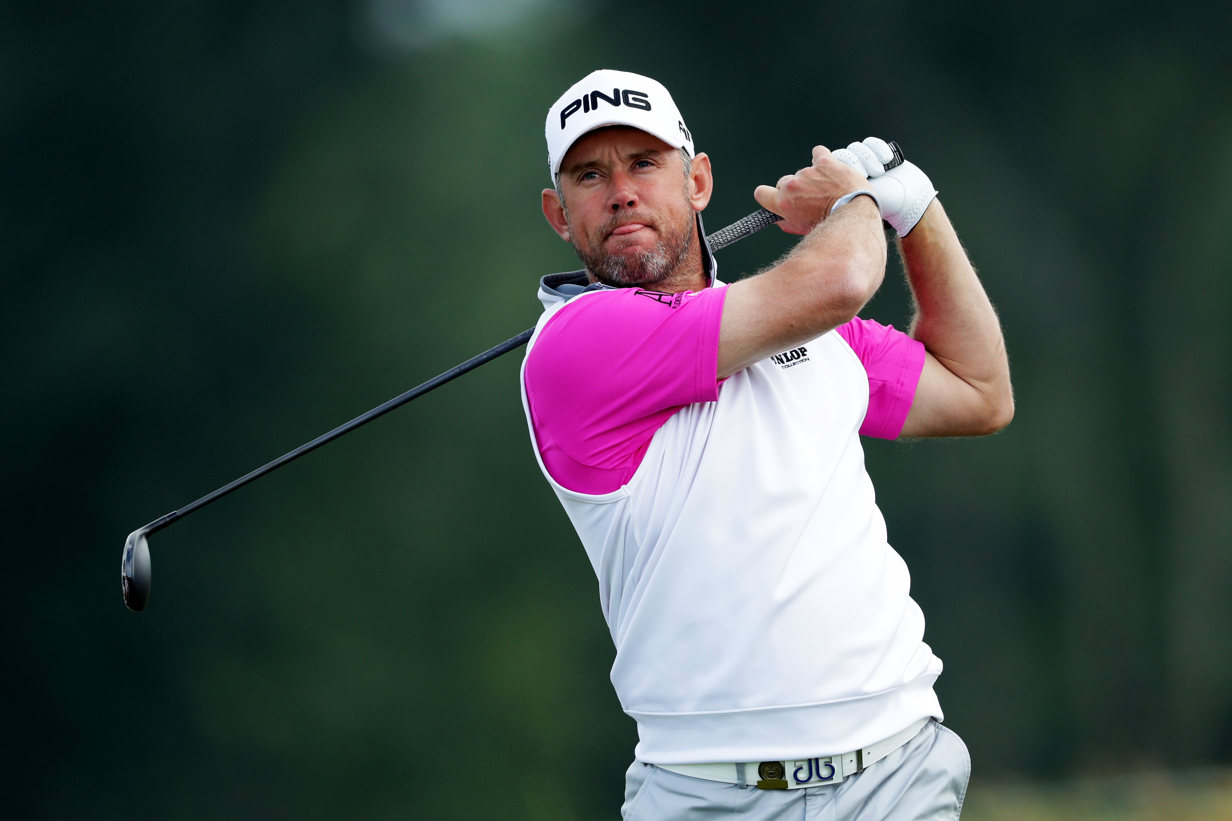 Lee Westwood finished off a round of 3-under 67 Friday, leaving him one shot off the lead. (Getty Images)