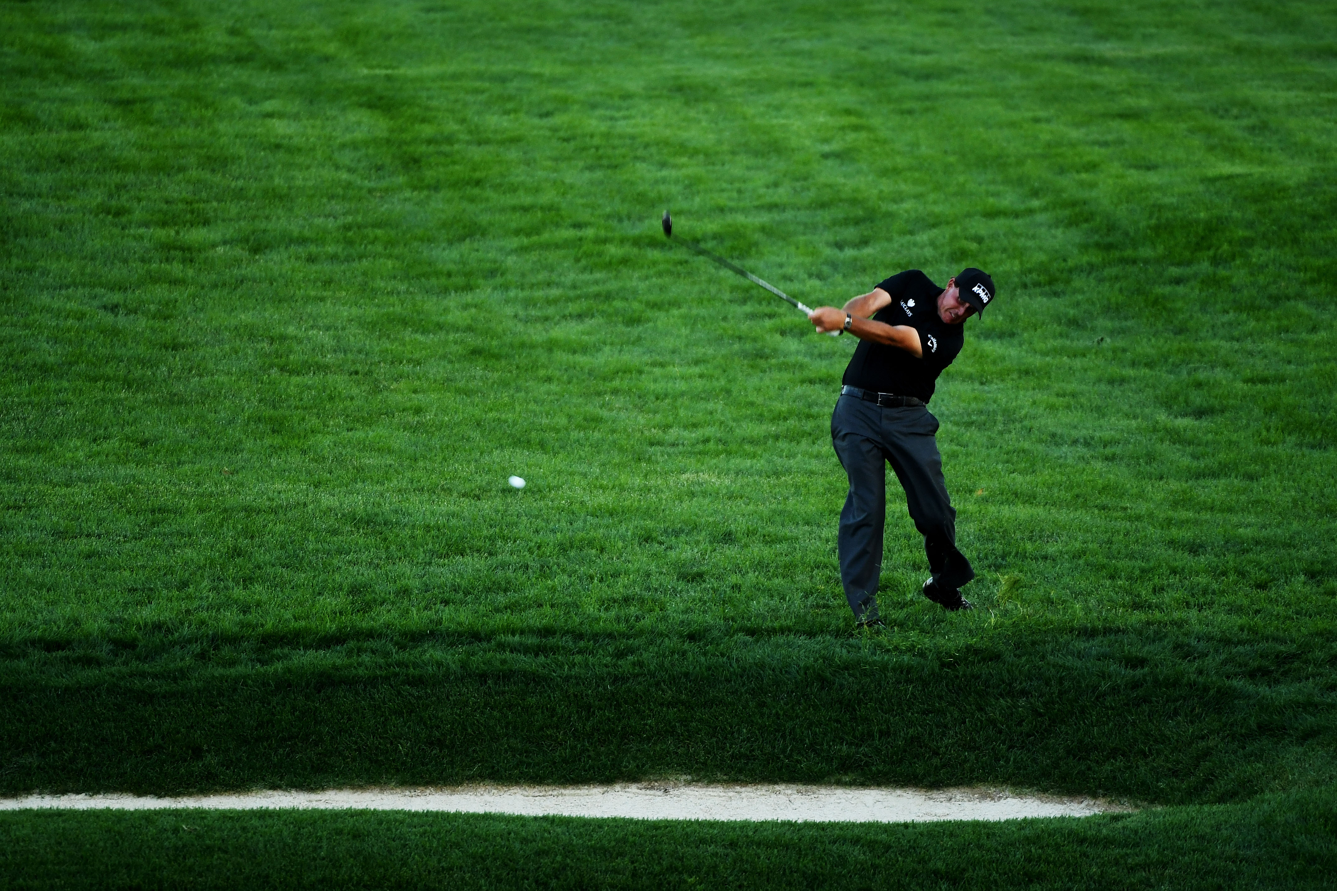 Phil Mickelson is 7-over through the first two rounds of the U.S. Open.  (Getty Images)