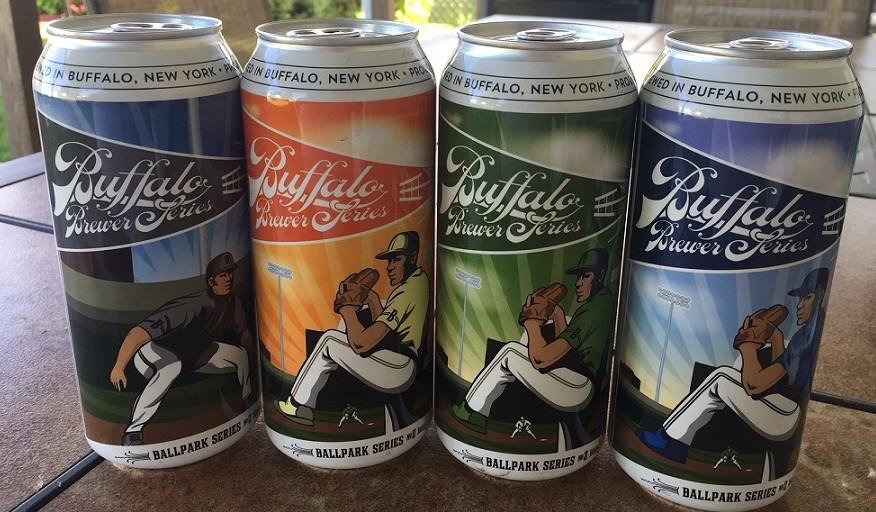 The Buffalo Brewer Ballpark Series features three beers from breweries. (Kevin Wise/Special to The News)