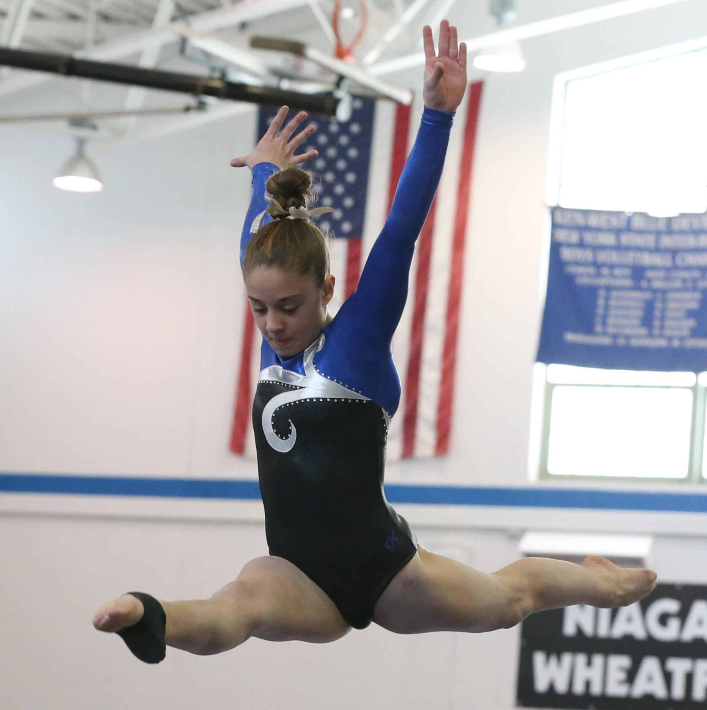 Zoe Kyriakopoulos competes in the 2015 state championships.  (James P. McCoy/ Buffalo News)