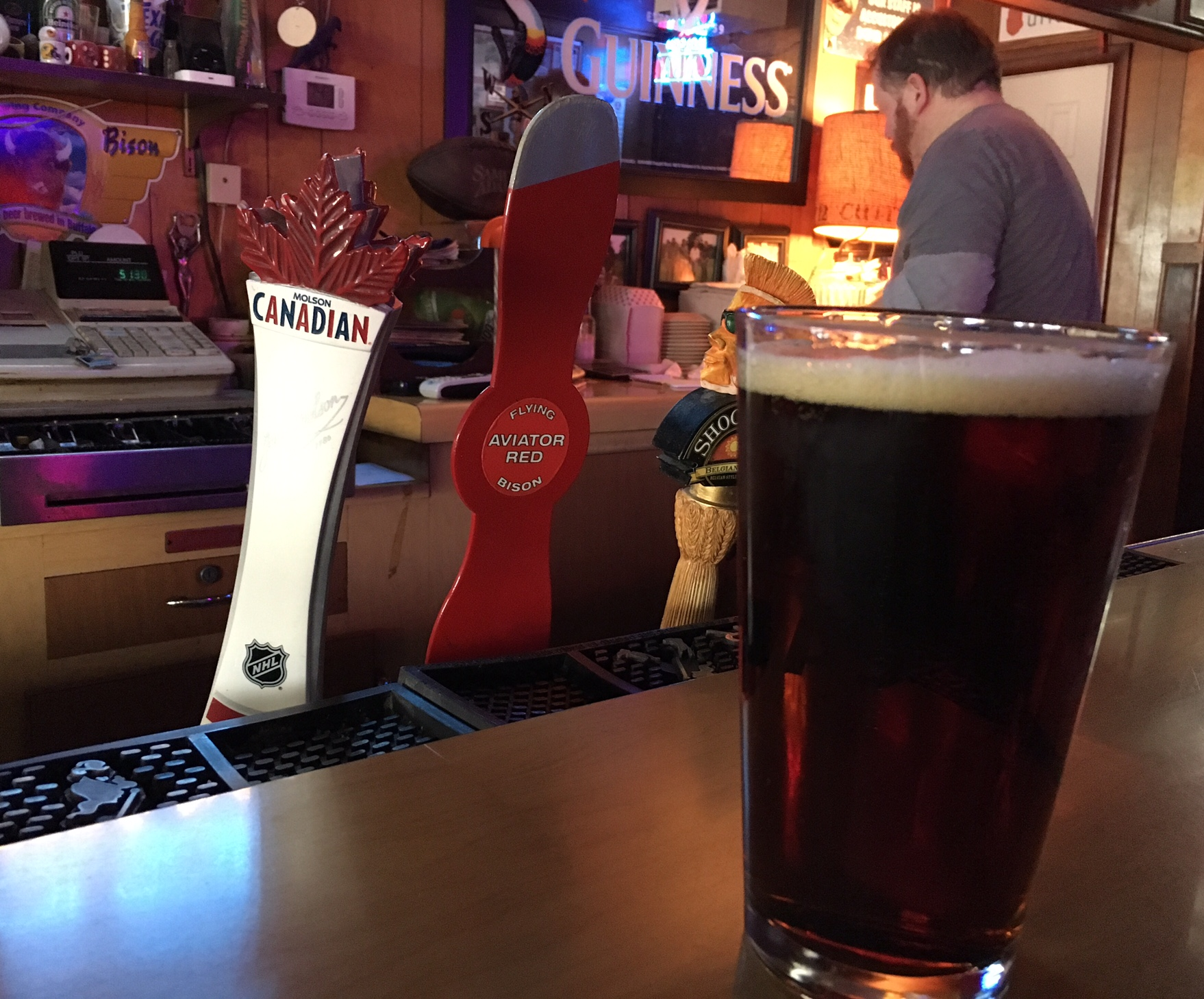 Flying Bison's Aviator Red is available on draft at South Buffalo's Nine-Eleven Tavern.