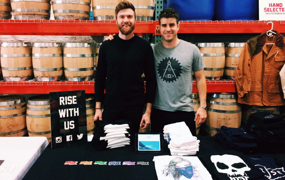 In addition to promoting small local businesses, Rise Collaborative founders Kevin Heffernan and Drew Brown sell apparel designed by local artists.