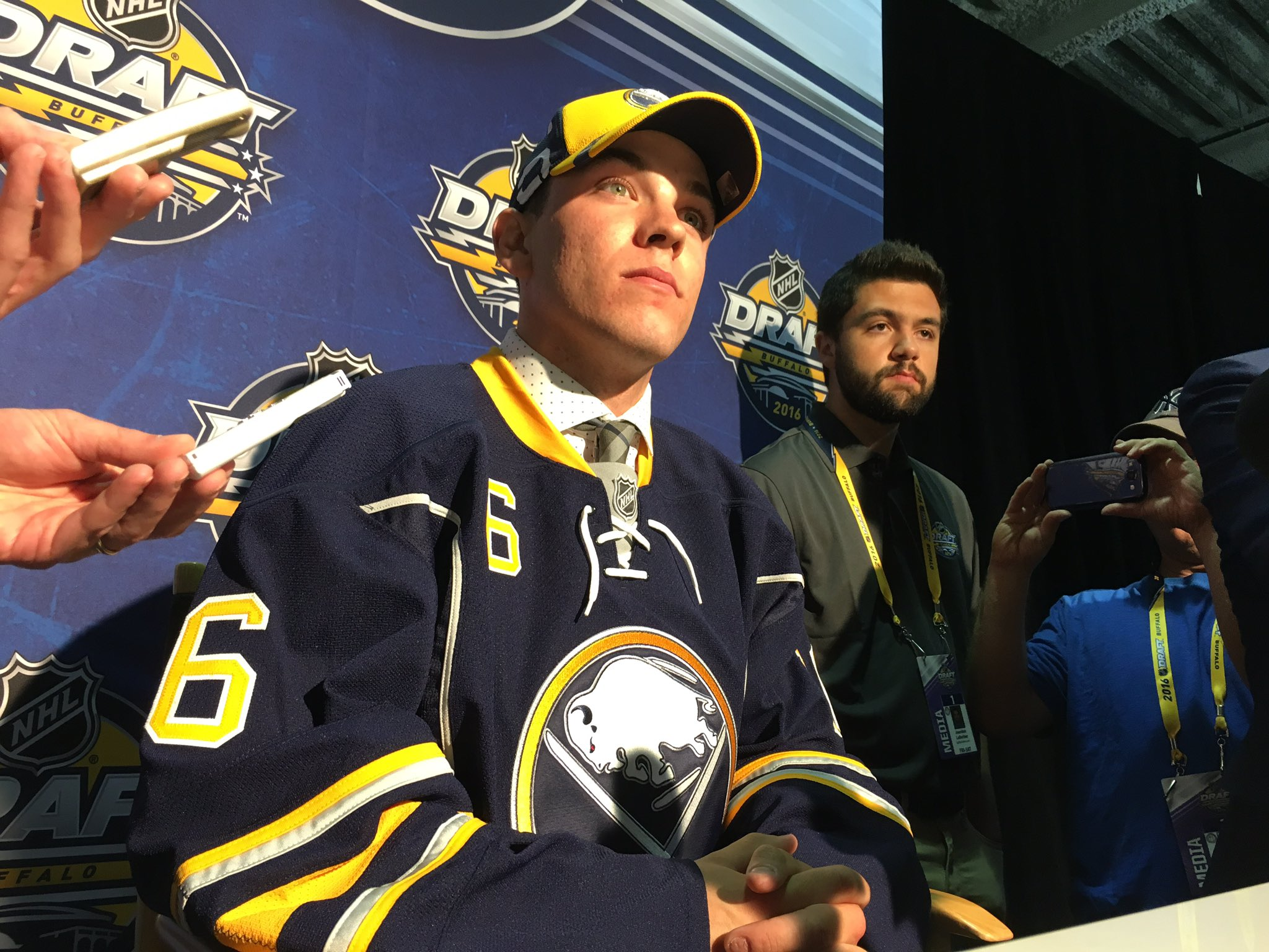 Sabres third-round selection Casey Fitzgerald. (Harry Scull Jr./Buffalo News)