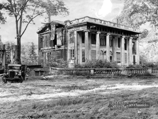 The photo shows the home in 1949, dismantled, awaiting court approval for a final demolition and the building of a home for the aged on the property. At the time, this core part of the house was the city's oldest surviving dwelling.
