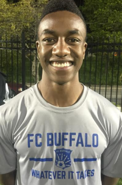 Isaiah Barrett with his signature grin in his roster photo. (via FC Buffalo)