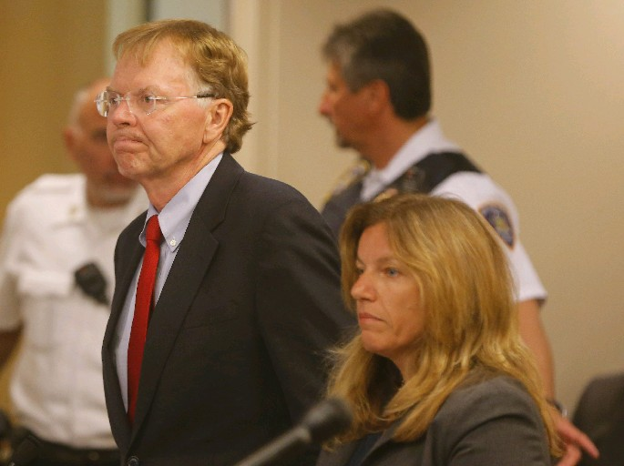 Former judge John Michalek pleads guilty in court to bribery, filing false information. (Mark Mulville/Buffalo News)