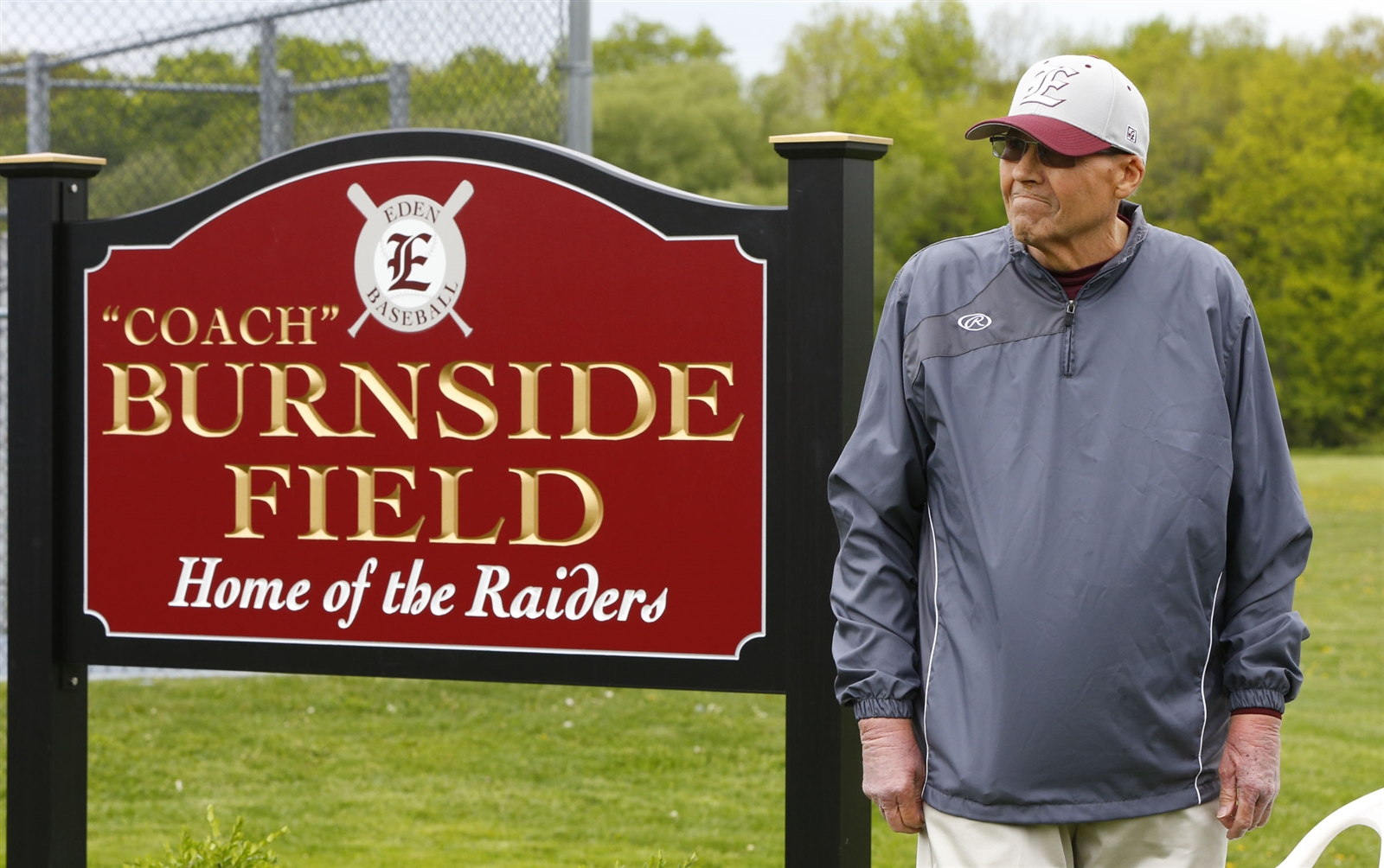 Robert Burnside coached with the Eden baseball program for more than half his life. He passed away at age 73 last Sunday. (Harry Scull Jr. / Buffalo News)