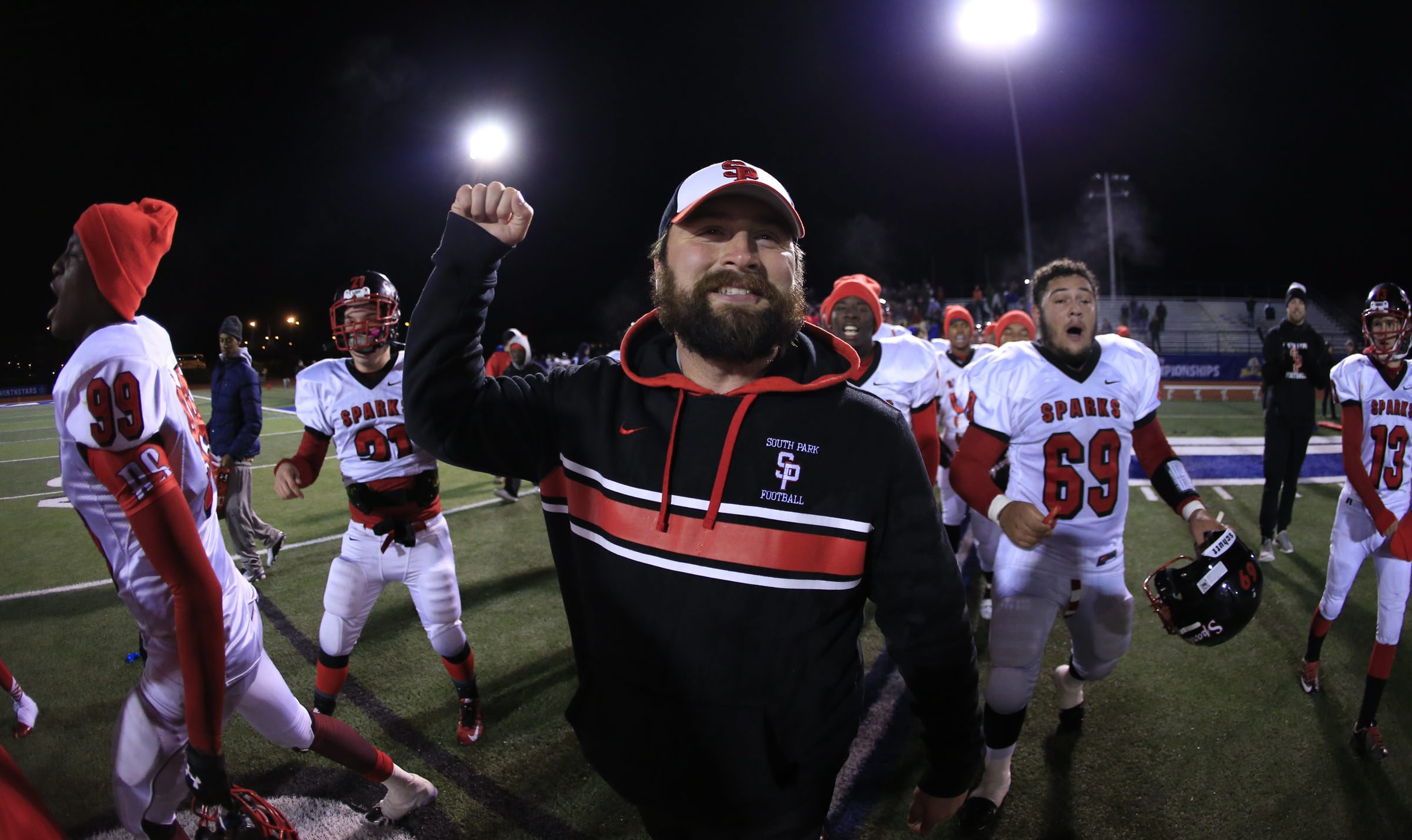 Coach Tim Delaney's South Park Sparks begin their state title defense with a nonleague contest at All High Stadium on Sept. 2 against St. Joe's of the Monsignor Martin Association. (Harry Scull Jr./Buffalo News file photo)