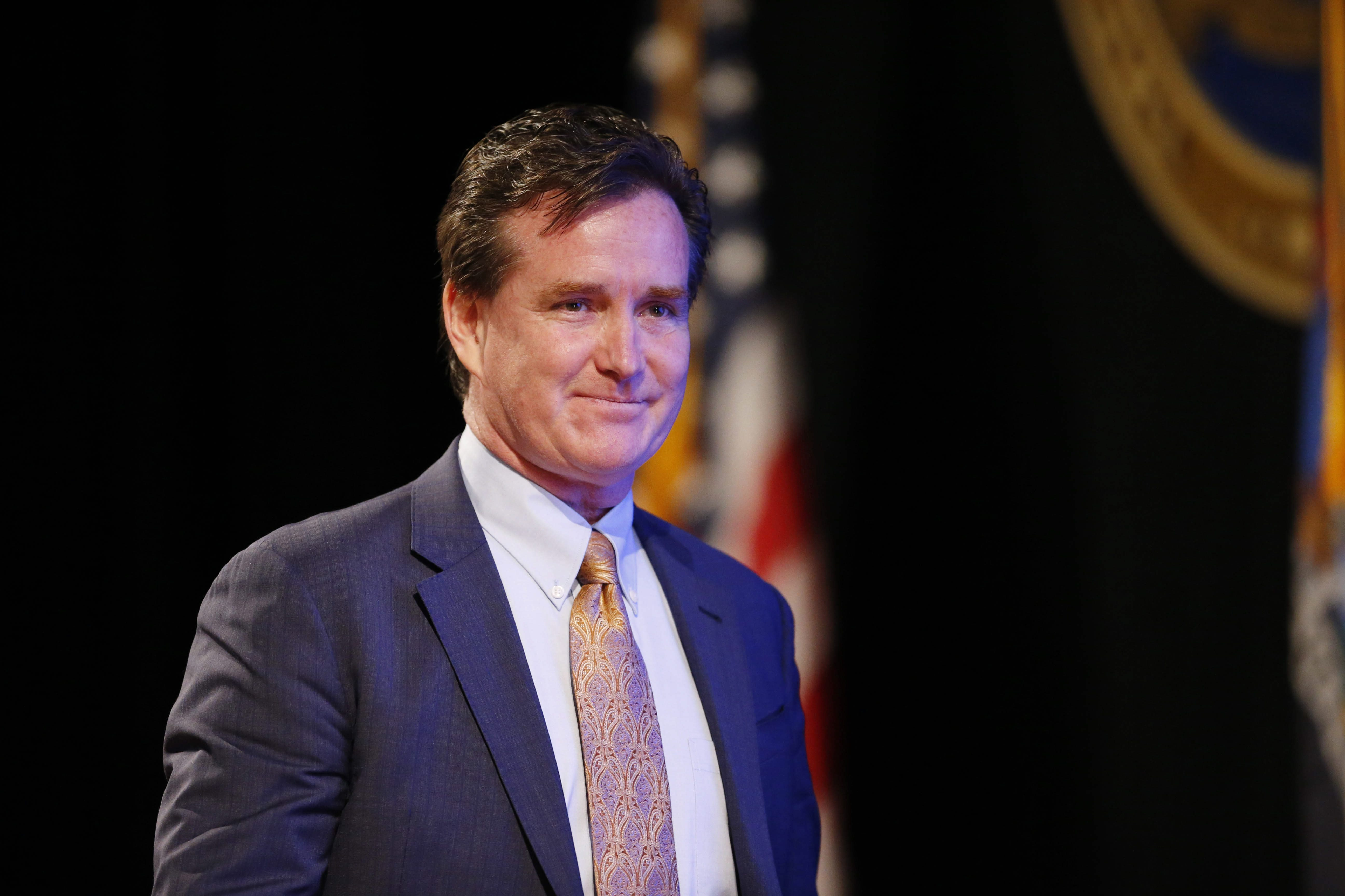 State Senate President and Majority Leader John J. Flanagan takes the stage at the State of the State at the Empire State Plaza Convention Center in Albany, Wednesday, Jan. 13, 2016. (Derek Gee/Buffalo News)