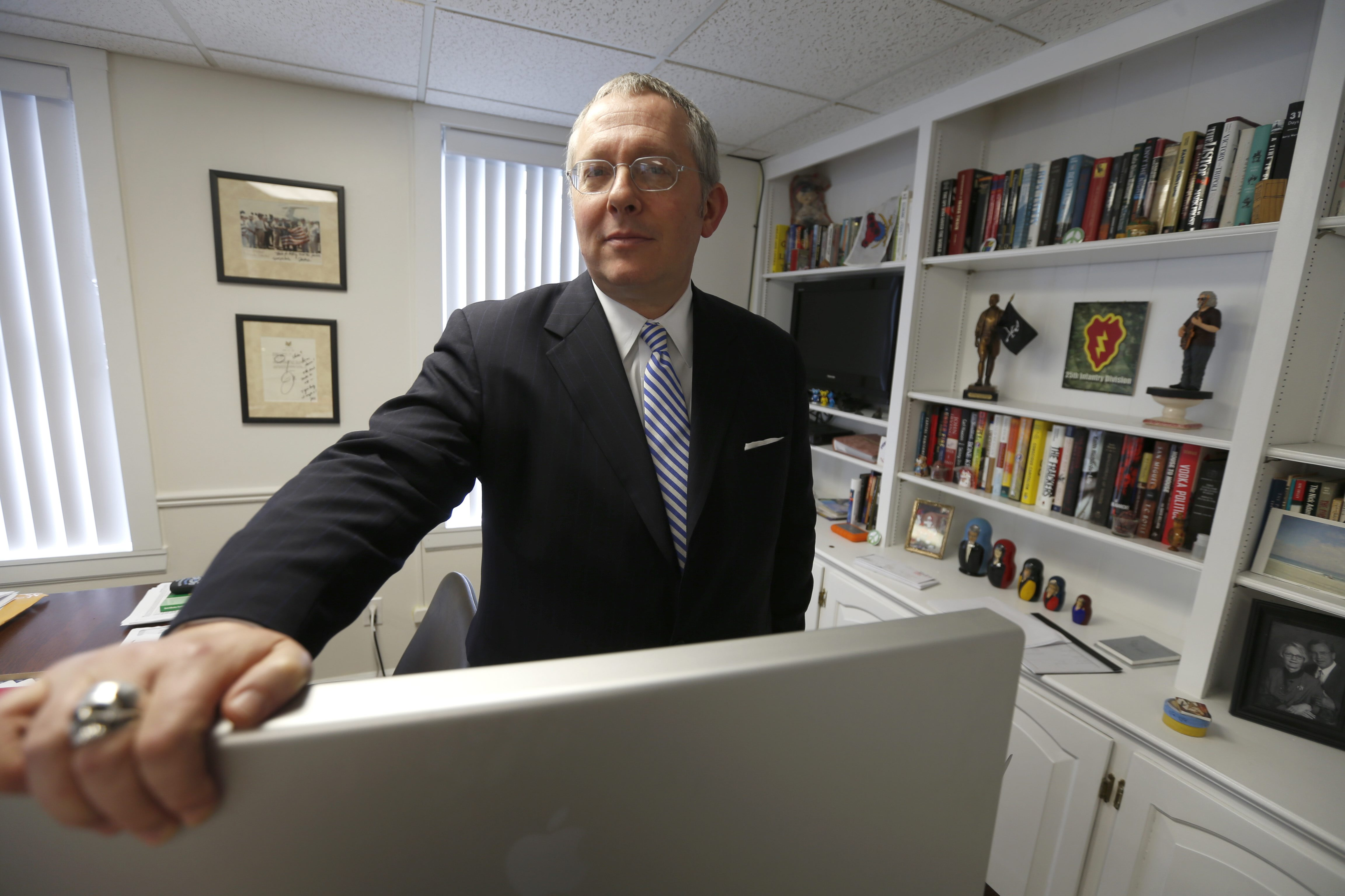 Republican political consultant Michael Caputo in his East Aurora office. (Robert Kirkham/Buffalo News)