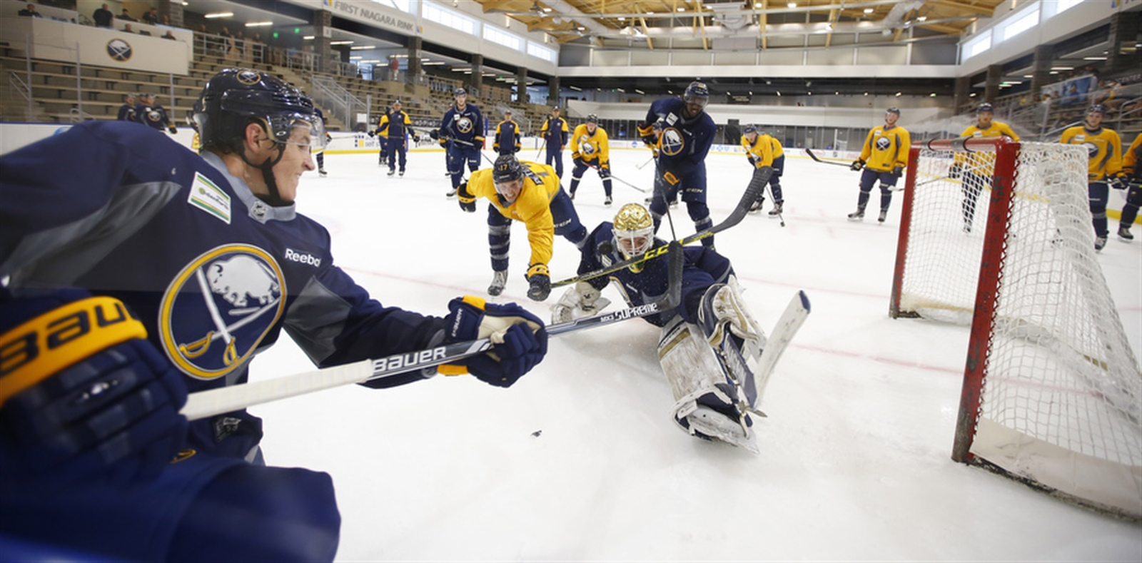 Sabres prospects will hit the ice Saturday in HarborCenter, just as they did last summer (Harry Scull Jr./Buffalo News file photo).