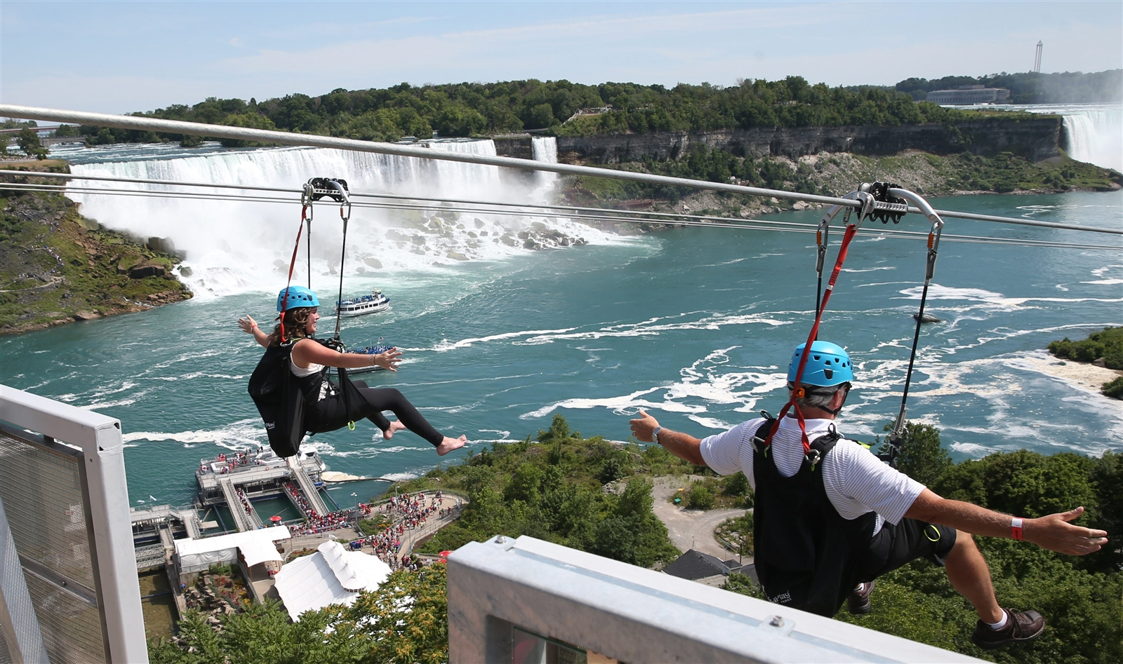 Zip line ride filled with fear, fun – The Buffalo News