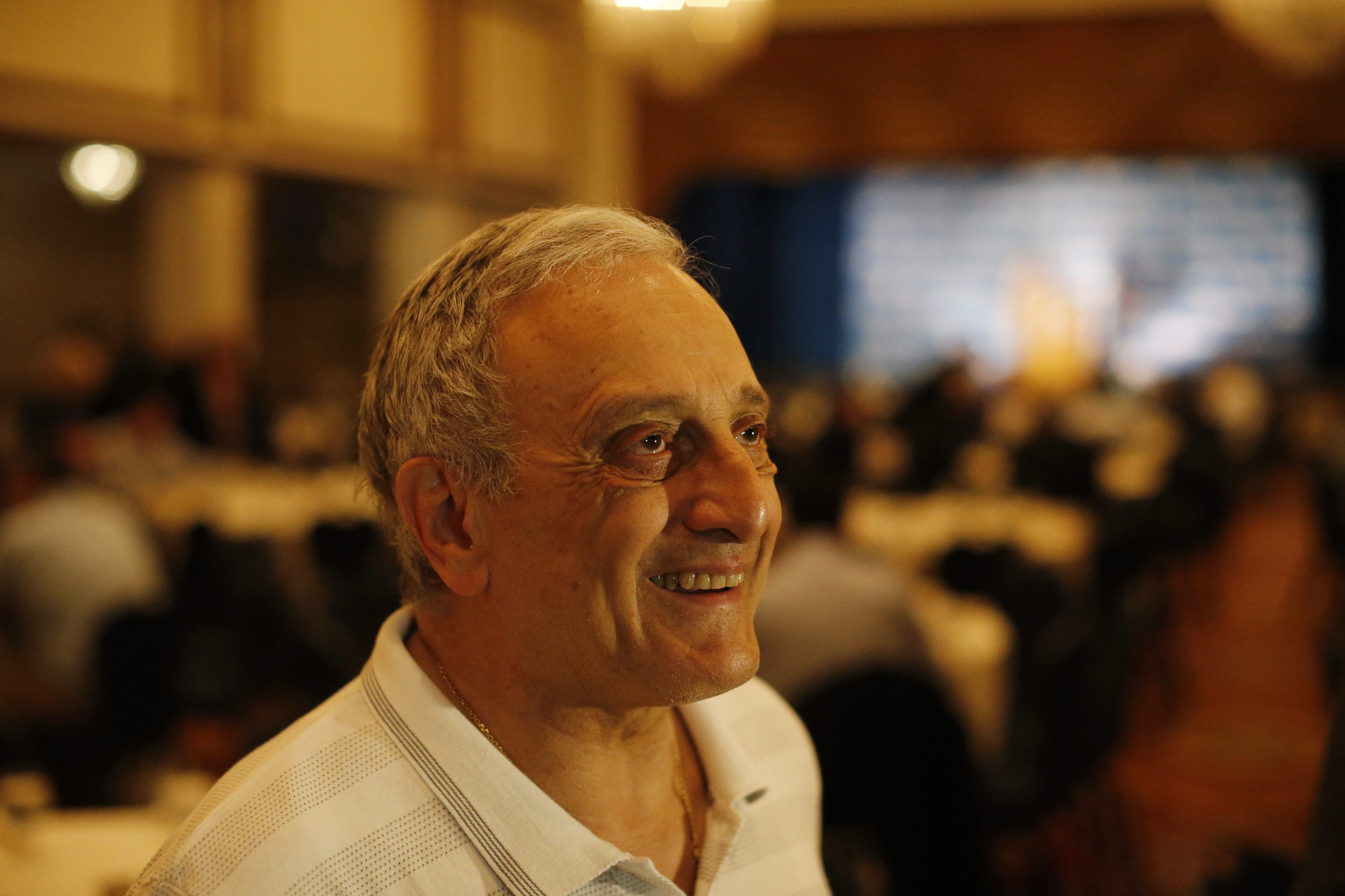 Carl Paladino speaks with the media during the New York delegation breakfast at the Renaissance Hotel on July 20.  (Derek Gee/Buffalo News)