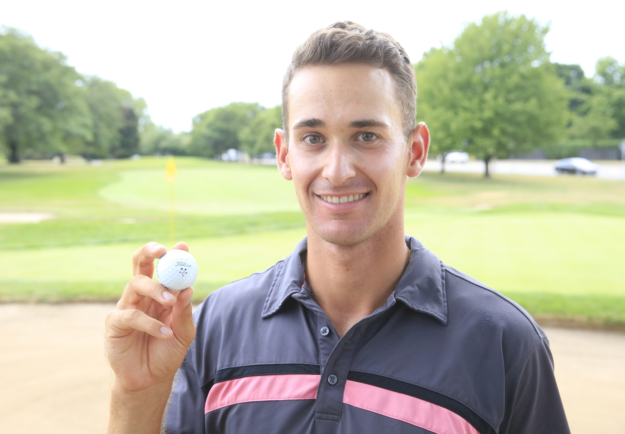 Russell Bowie made a hole-in-one on the 18th hole Thursday during the second round of the Porter Cup. (Harry Scull Jr./Buffalo News)