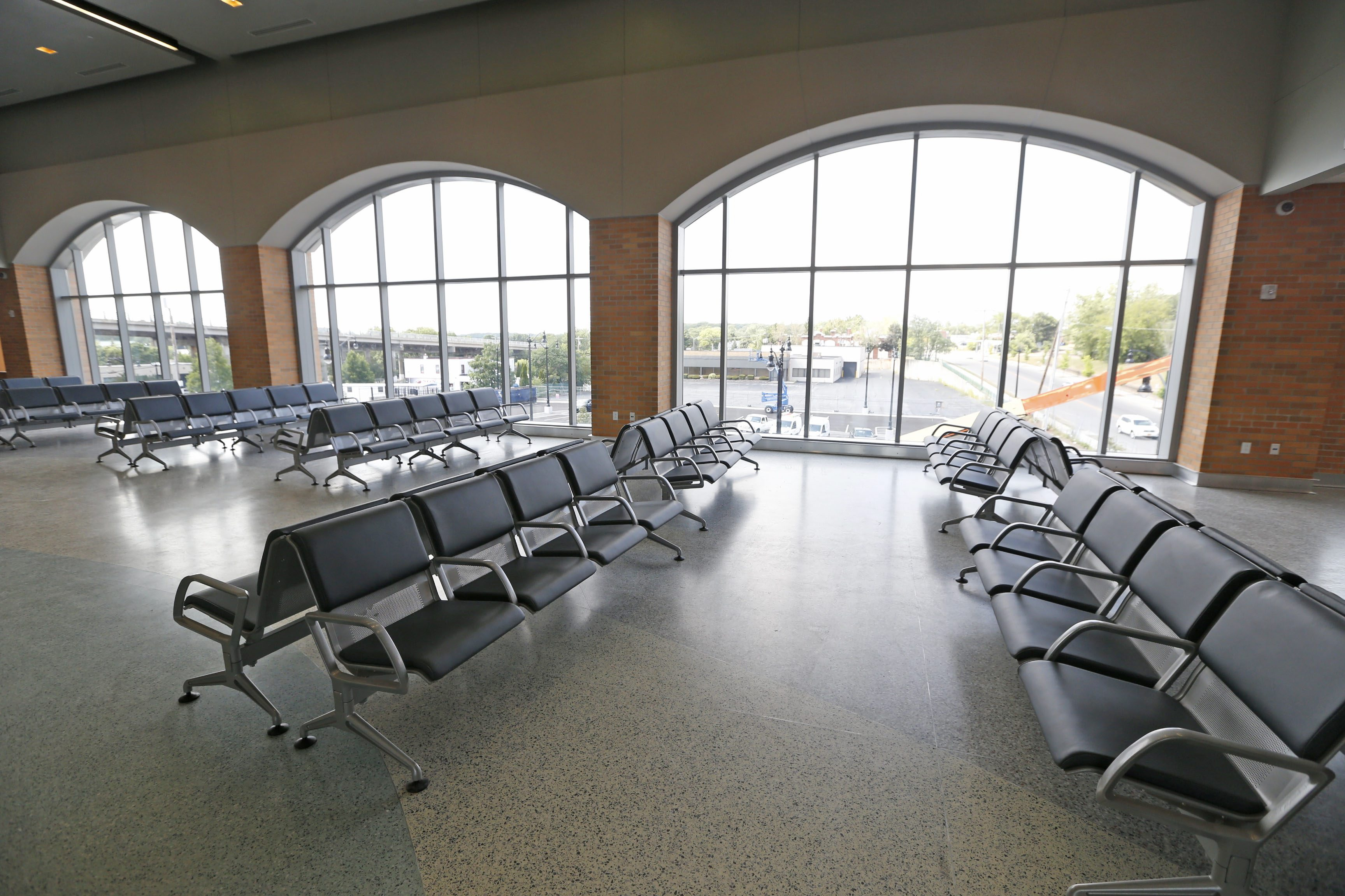 The new $43 million Amtrak train station in Niagara Falls. (Robert Kirkham/Buffalo News)