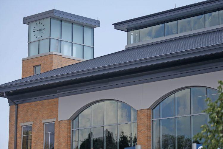 The new $43 million Amtrak train station in Niagara Falls and adjacent Customs House with the new Underground Railroad Museum. (Robert Kirkham/Buffalo News)