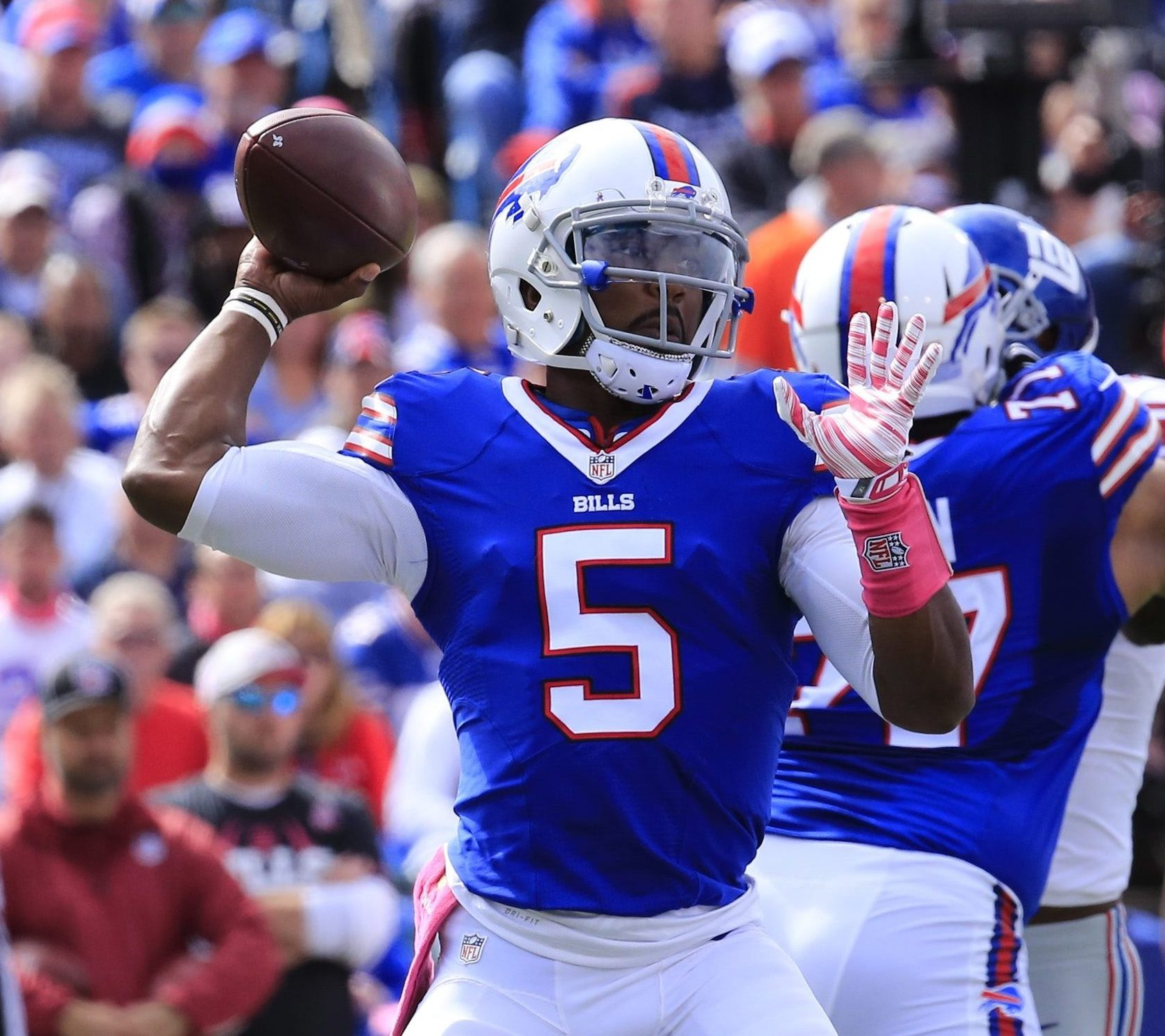 The Bills are still pursuing a long-term contract with Tyrod Taylor. (Harry Scull Jr./Buffalo News)