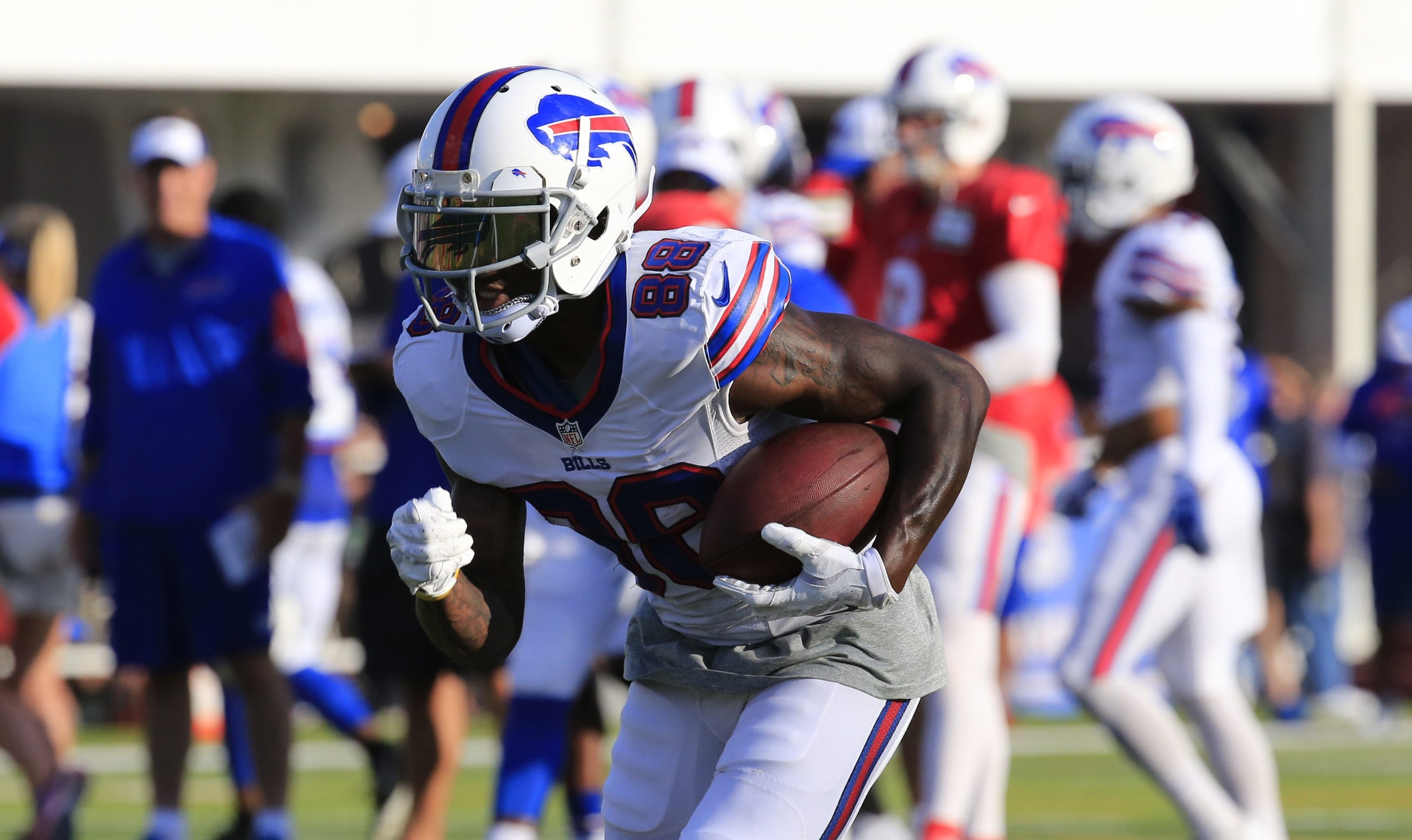 Bills receiver Marquise Goodwin, who missed qualifying for the Olympics, will attempt to revive a football career that has been derailed by injuries.