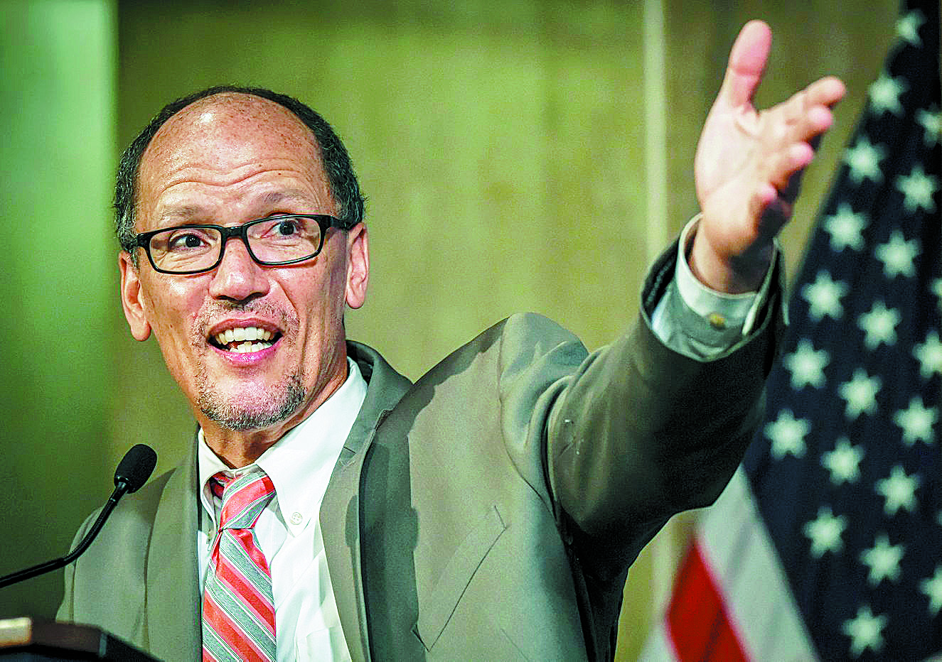 Labor Secretary Thomas Perez, who is said to be on the short list of Hillary Clinton's running mate. (Bill O'Leary/Washington Post)