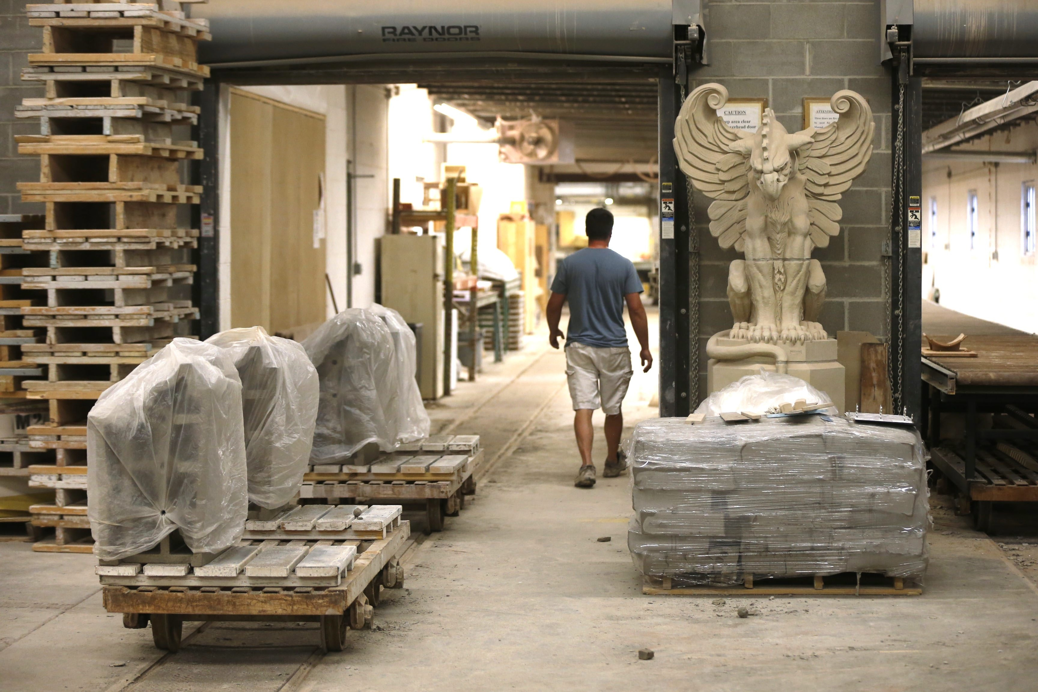 Copies of Boston Valley Terra Cotta's favorite pieces from jobs all over the world decorate the Orchard Park plant. The company recently completed a $2.6 million expansion and added a dozen jobs to its workforce. It also increased the value of the orders in the pipeline to $20 million from $16 million.