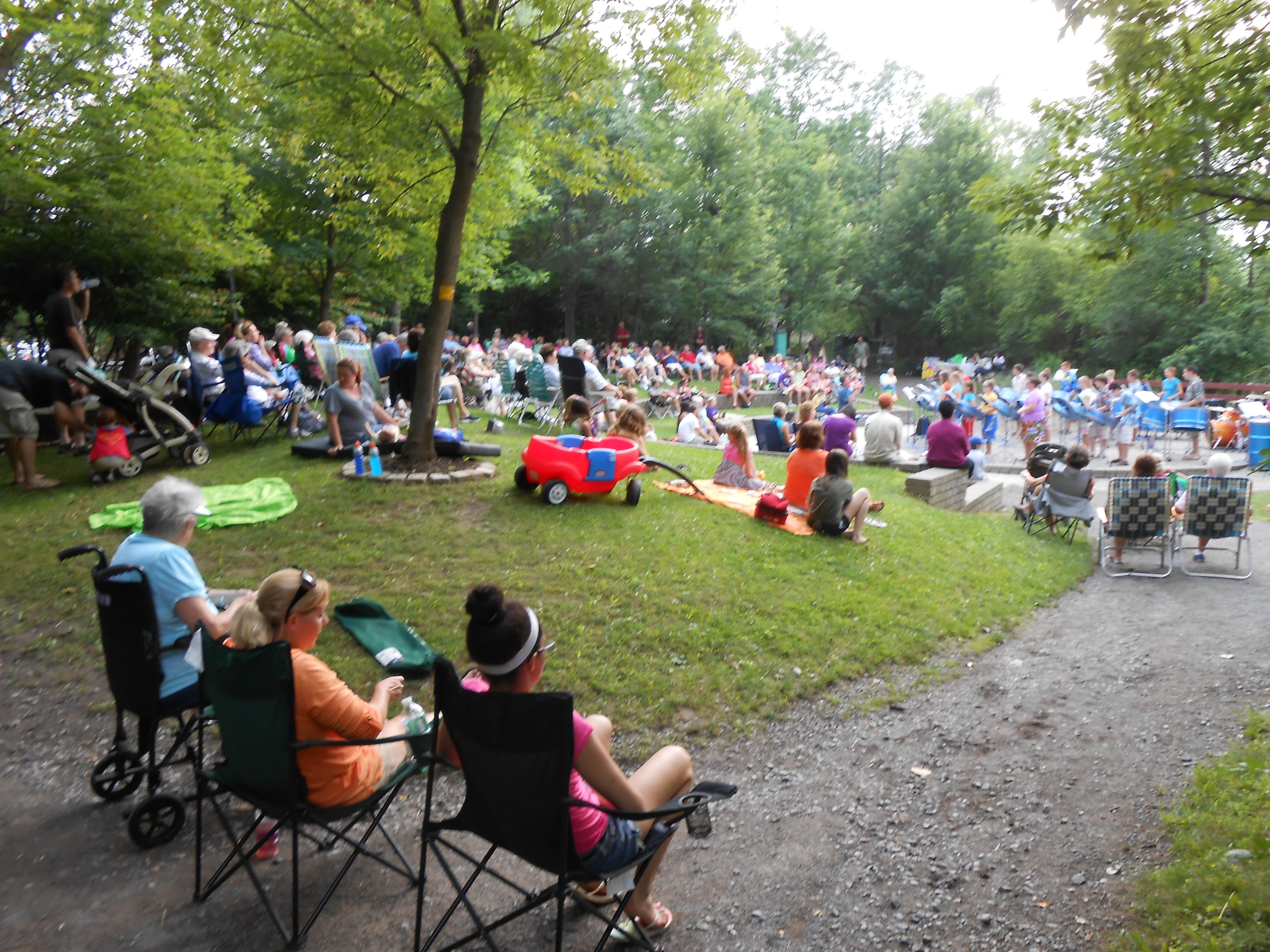 Concertgoers attend a concert at the Burchfield Nature and Art Center. (Photo courtesy of the Burchfield Nature and Art Center)
