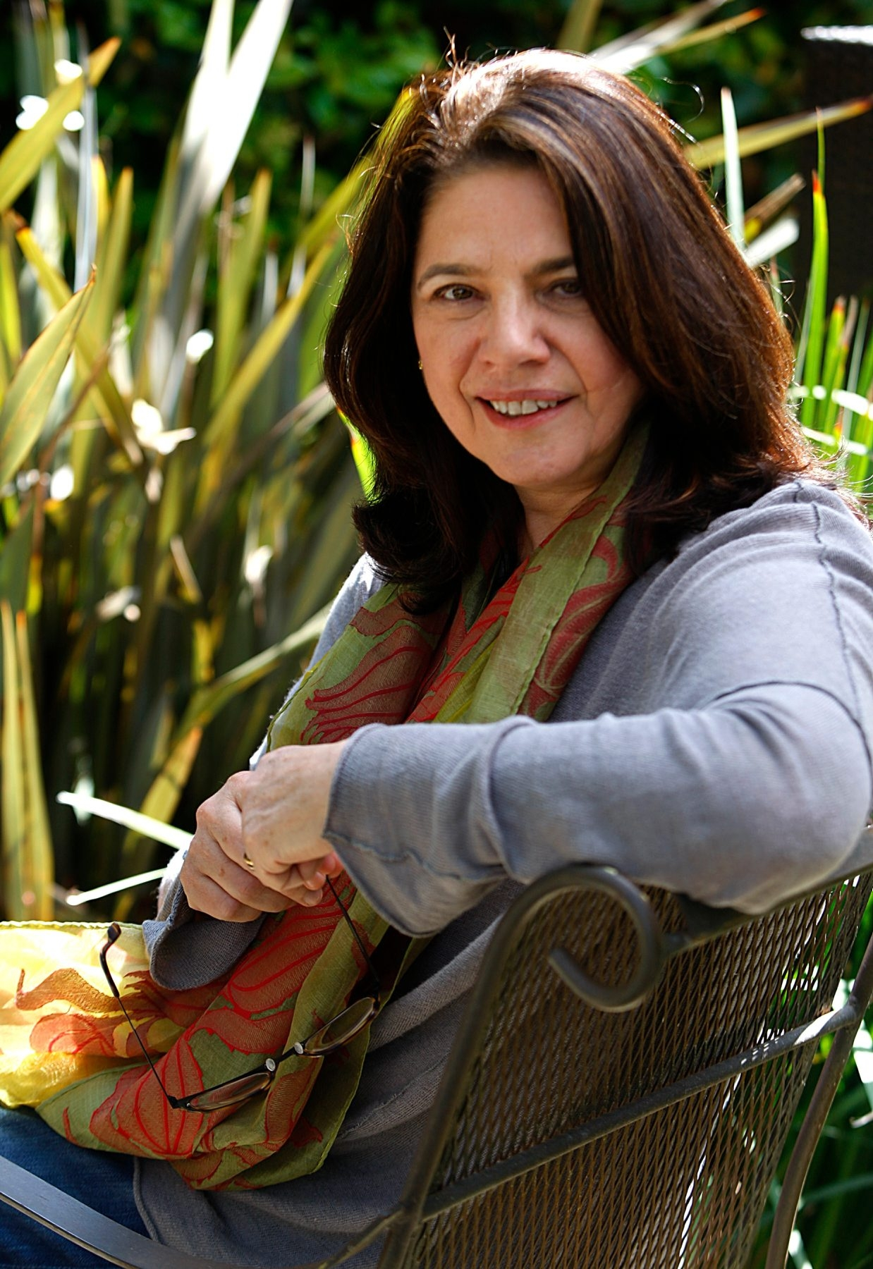 Author, Cathy Shine at her home in Venice Ca. on April 22, 2013.  PHOTOS BY KAREN TAPIA