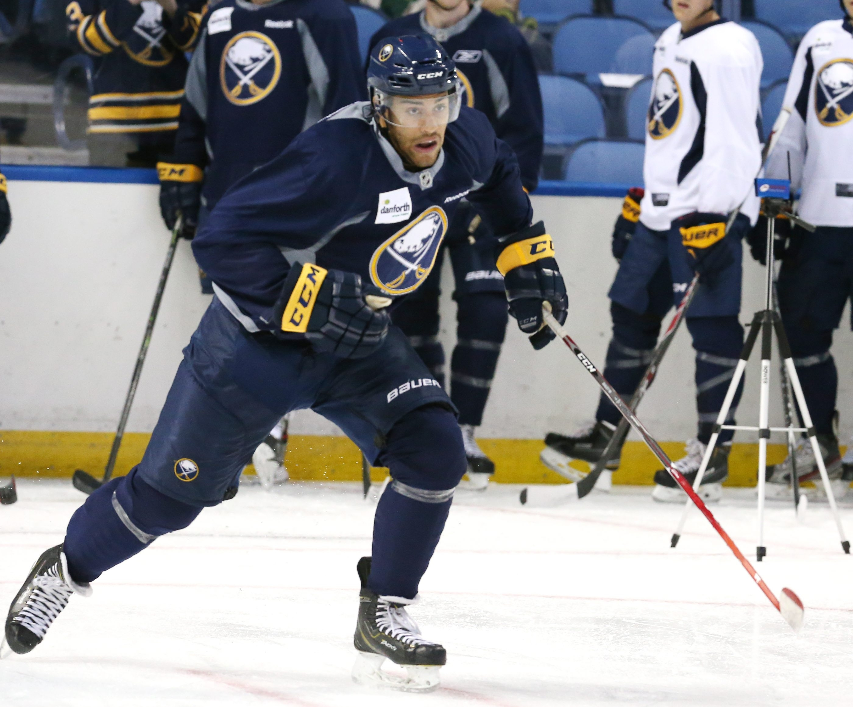 Buffalo Sabres Justin Bailey skates for time during Day Four of Sabres Development Camp at First Niagara Center in Buffalo,NY on Thursday, July 9, 2015.  (James P. McCoy/ Buffalo News)