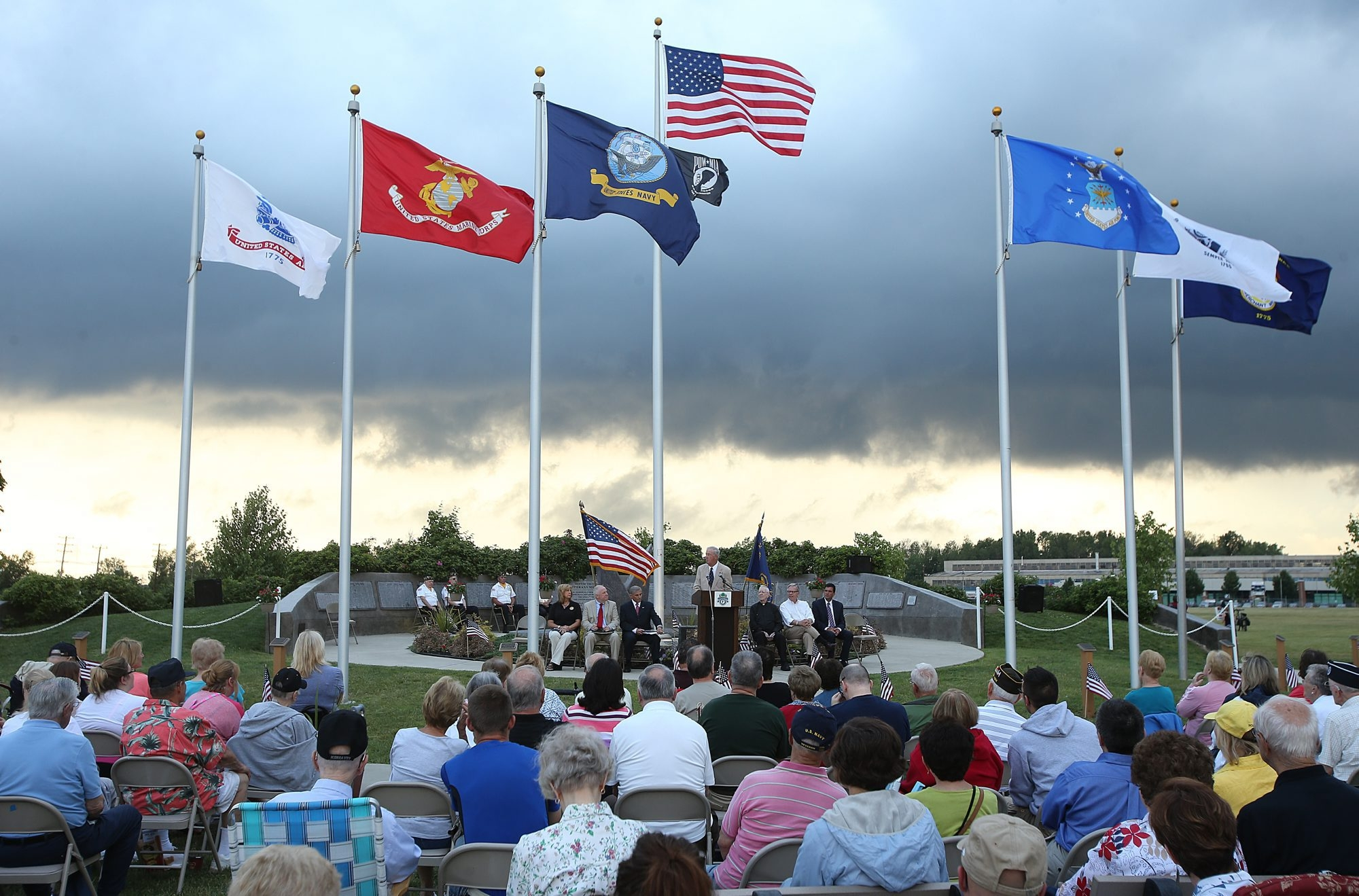 Town and village residents who are Korean War veterans were honored July 3, 2014 at Kenney Field.