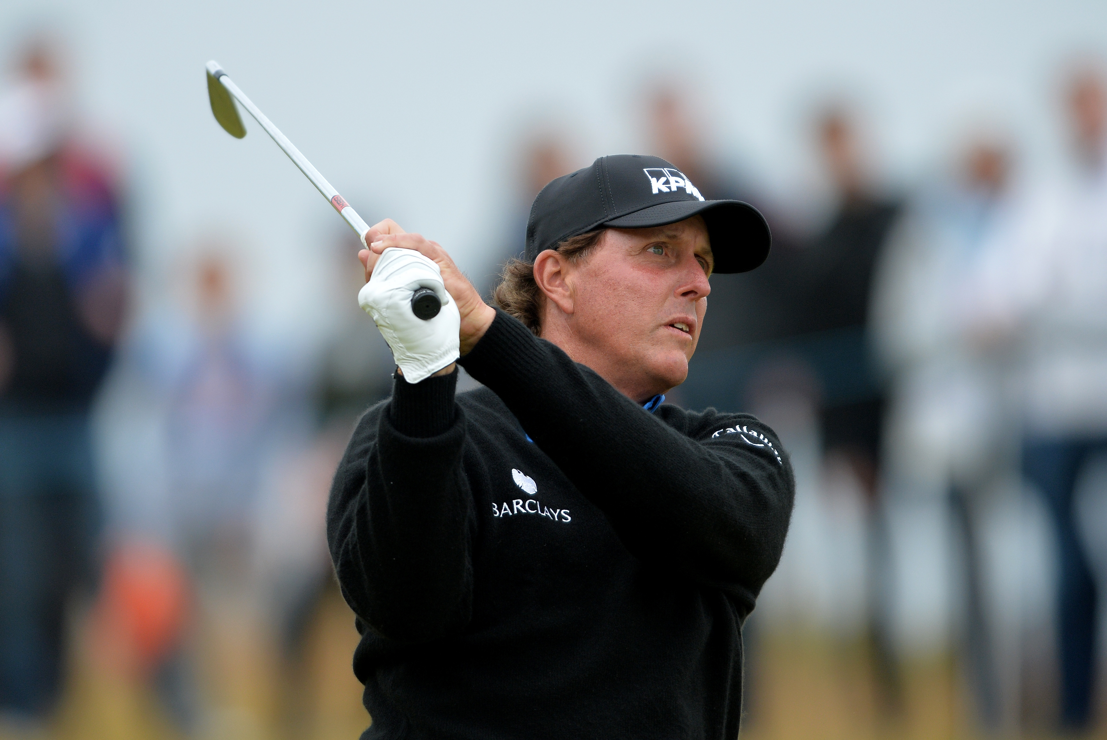 Phil Mickelson will look upon Sunday's final round at Royal Troon as one of his greatest performances, even though he finished in second place. (Mark Runnacles/Getty Images)