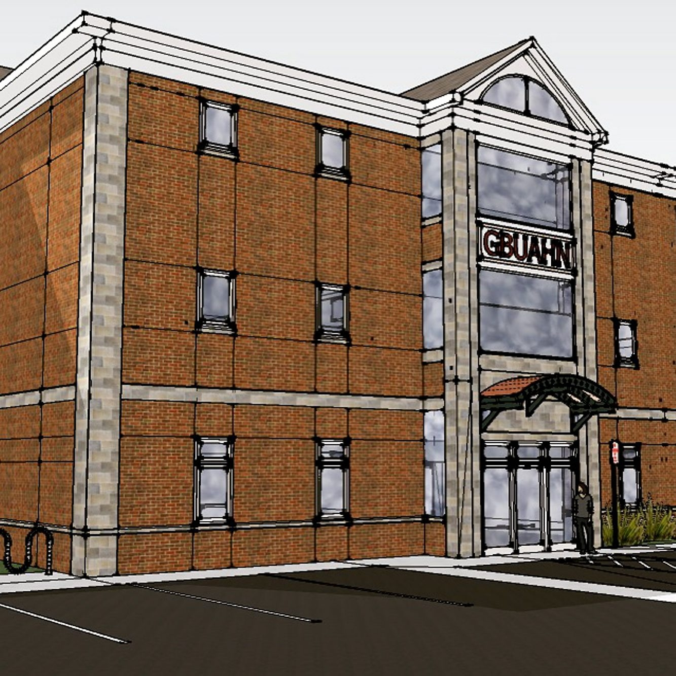 An artist's sketch of the proposed building on Seventh Street.