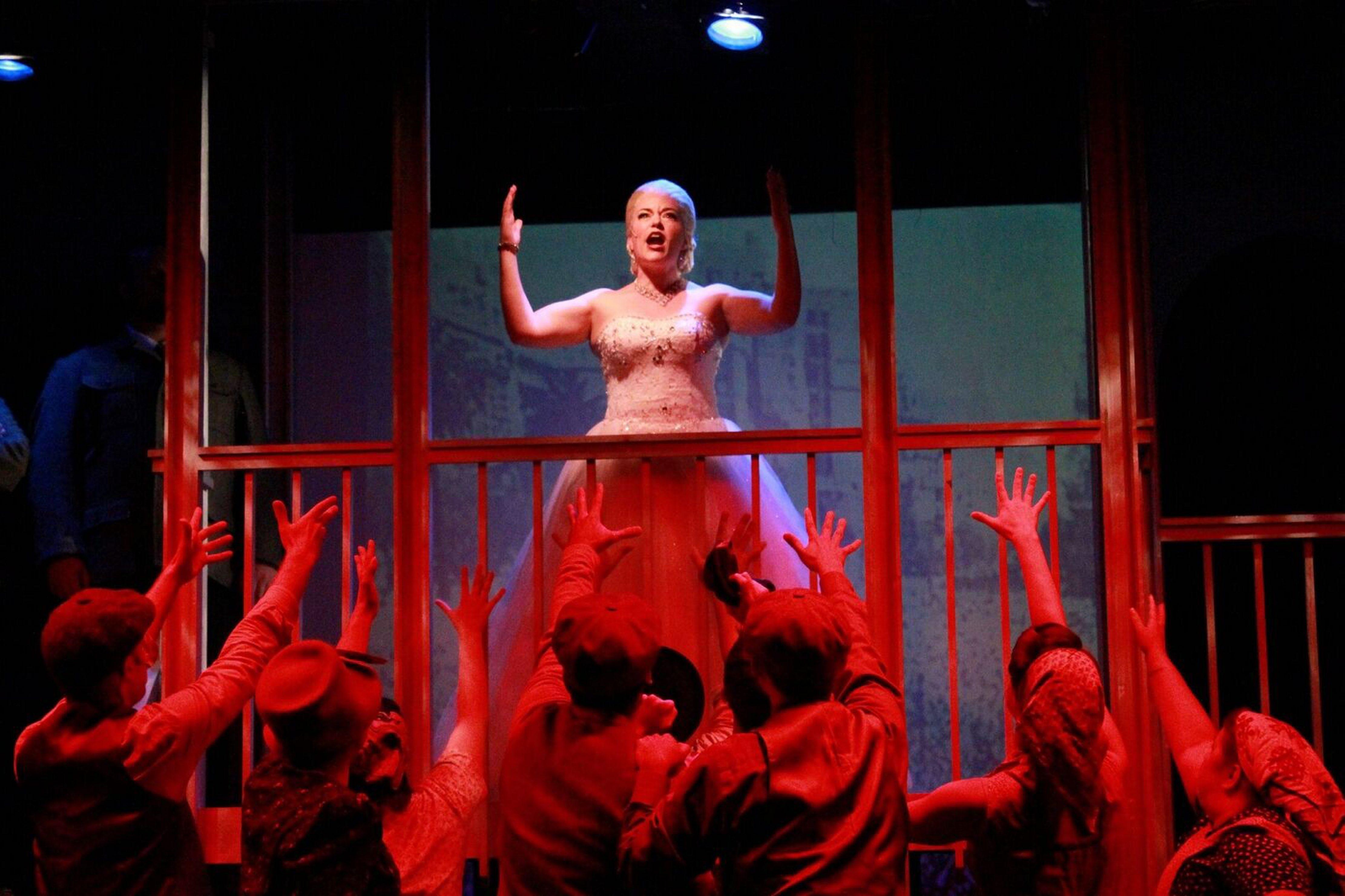 "Michele Marie Roberts stars in MusicalFare Theatre's production of ""Evita."""