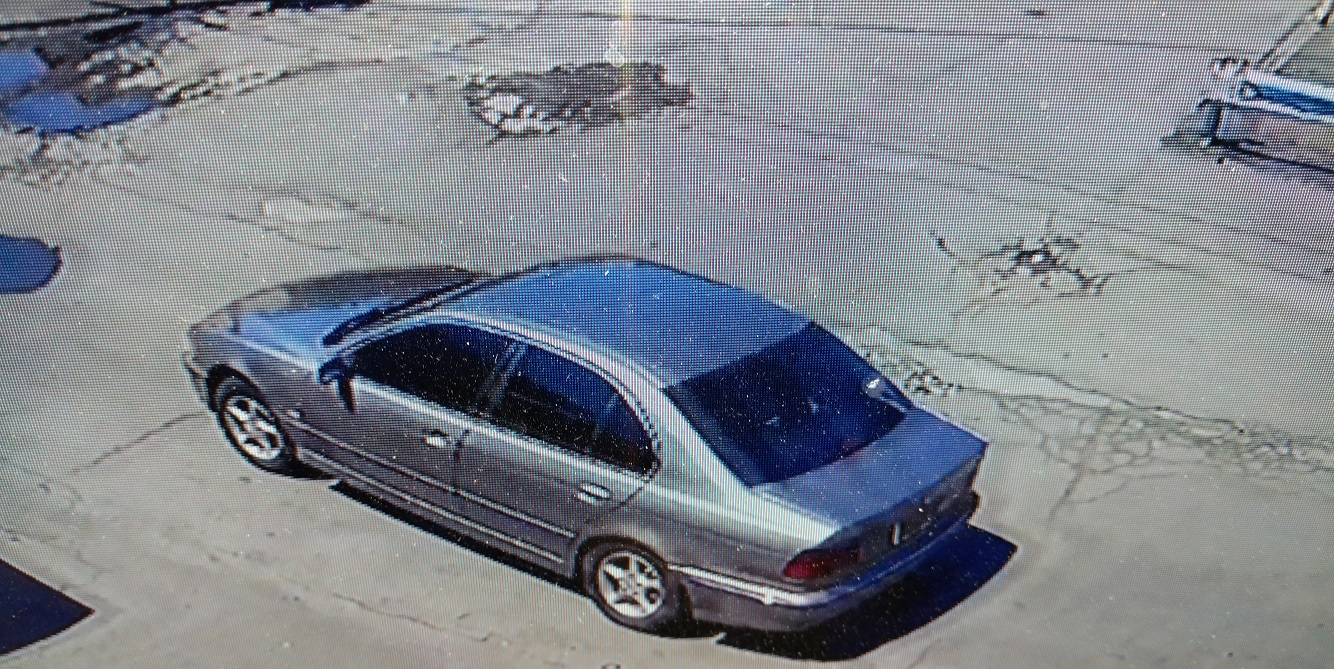 Police say the suspect fled the scene of Sunday's drive-by shooting in this silver BMW. (Niagara Falls Police)