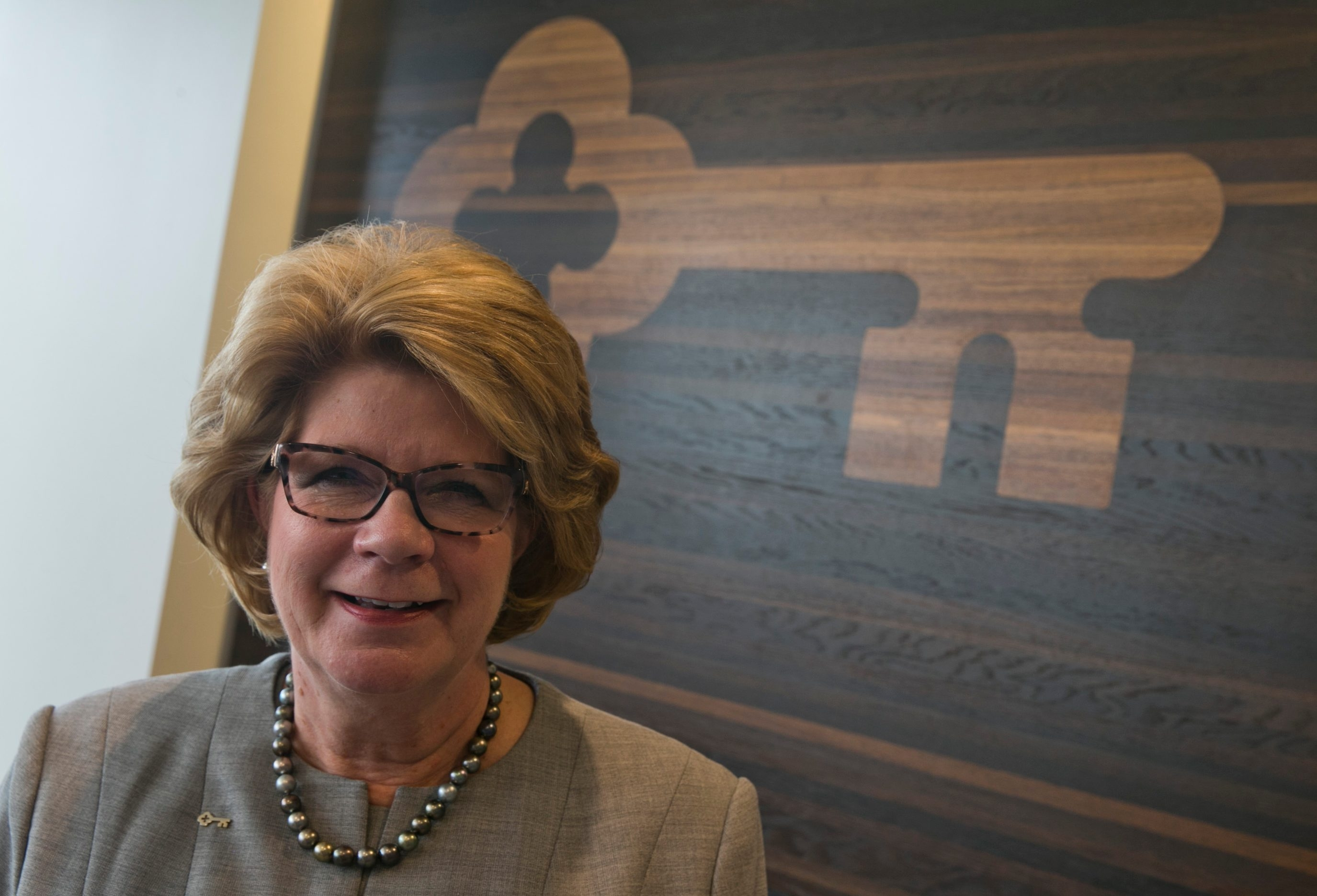 Chairman and Chief Executive Officer of KeyCorp Beth Mooney at KeyBank offices at 250 Delaware Ave. (John Hickey/Buffalo News)