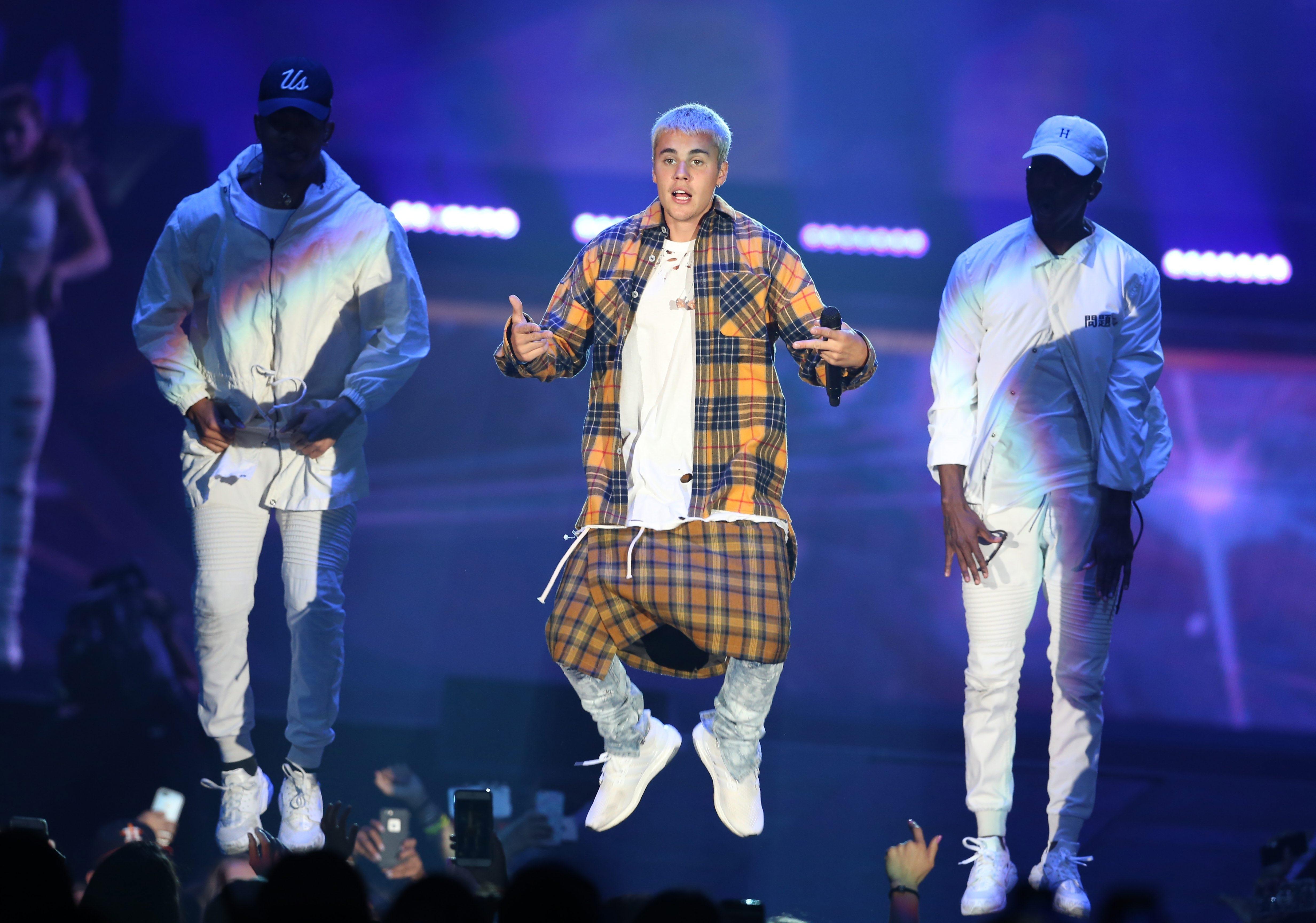 Justin Bieber performs at First Niagara Center for his Purpose Tour. (Sharon Cantillon/Buffalo News)