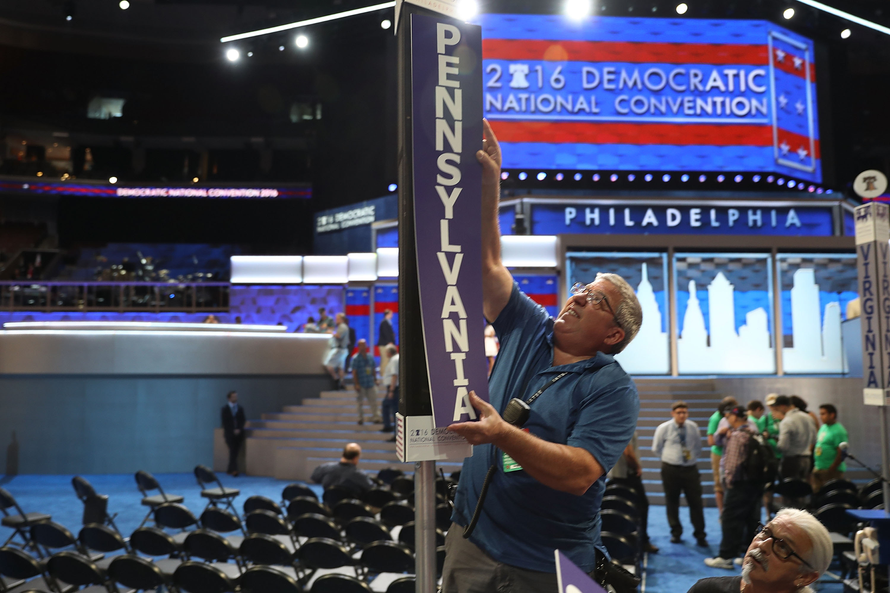 Preparations are underway for the Democratic National Convention in Philadelphia.  (Joe Raedle/Getty Images)