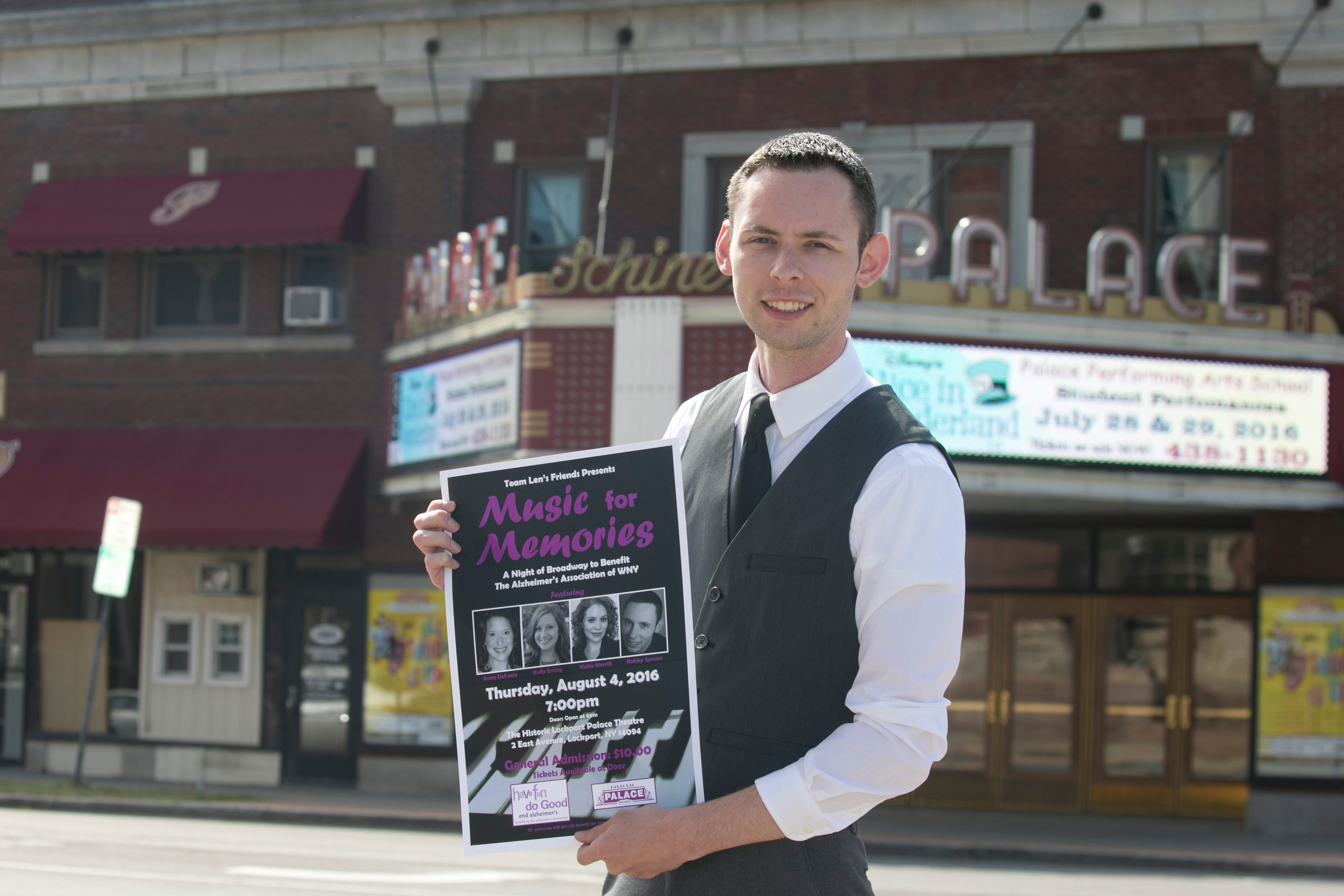 In honor of his grandfather, Robby Syruws will perform at the Palace Theatre with three friends on August 4.